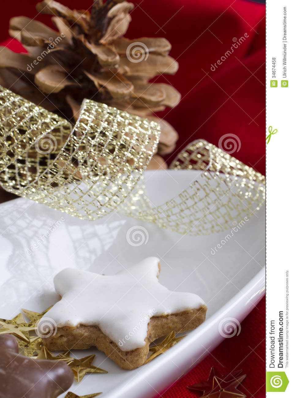 Traditional german christmas cookies royalty free stock
