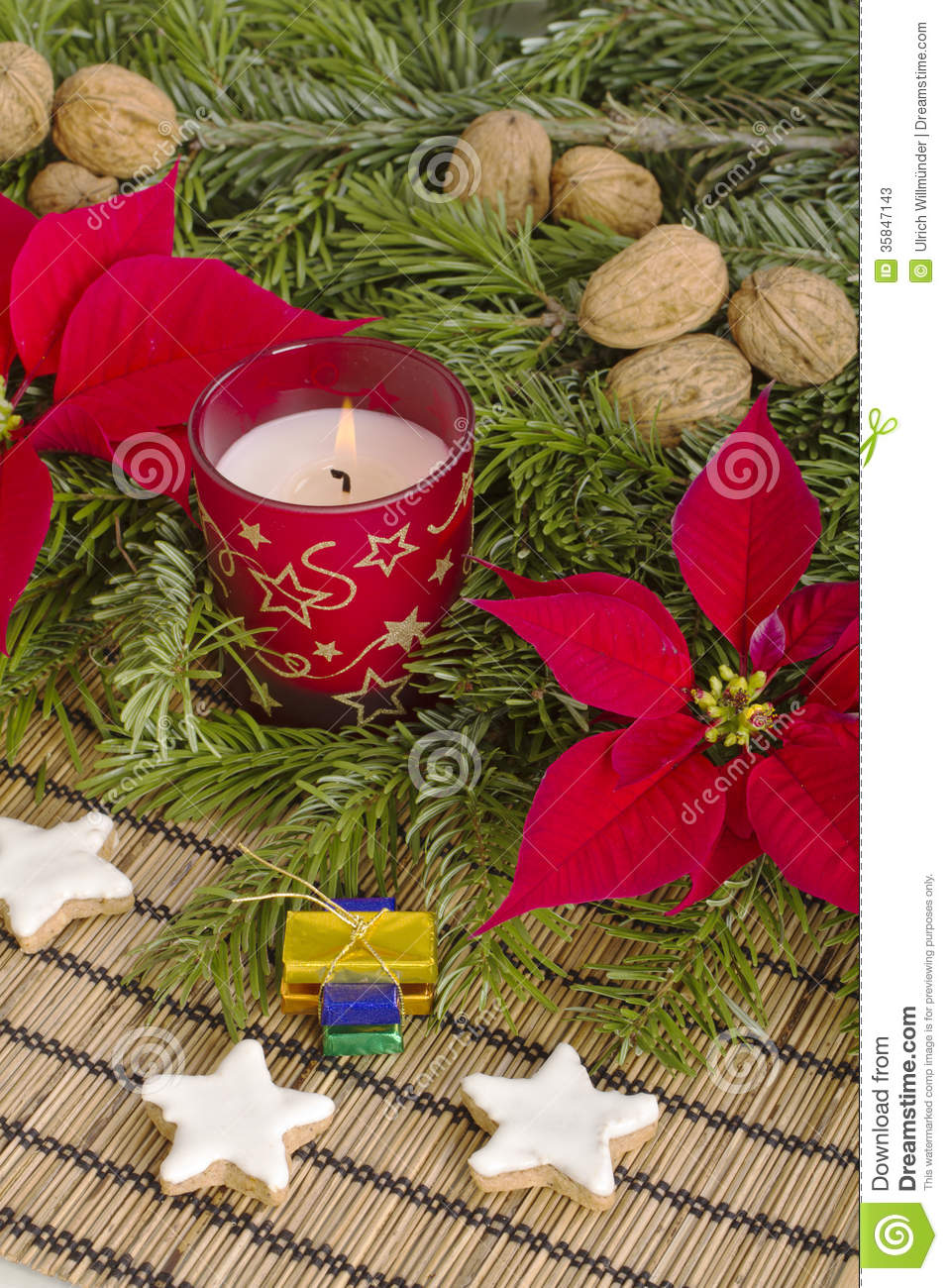 Traditional German Christmas Decoration With Cookies Stock Photos ...