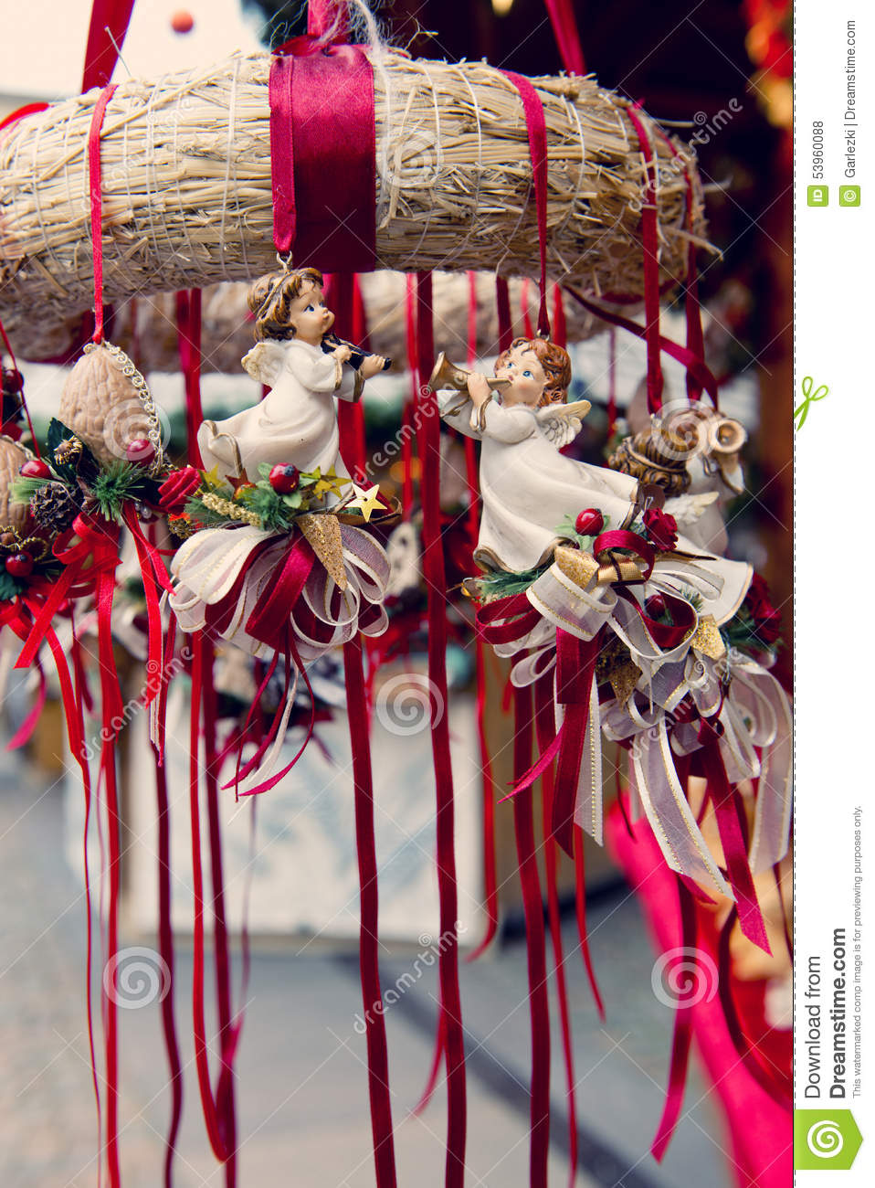 download traditional german christmas decorations stock photo image of bavaria nuremberg 53960088