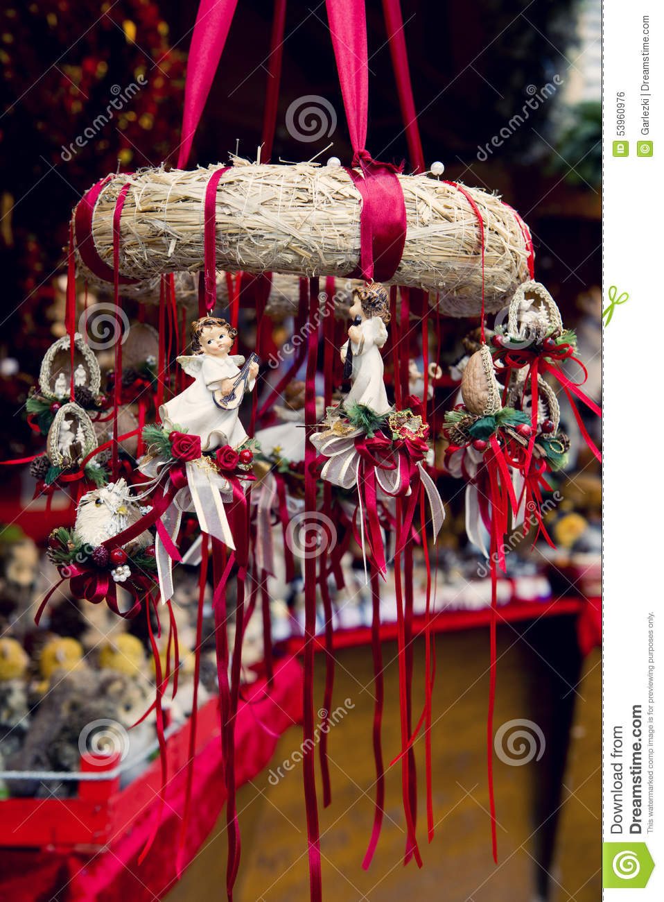 Traditional german christmas decorations - Traditional German Christmas Decorations Stock Photo