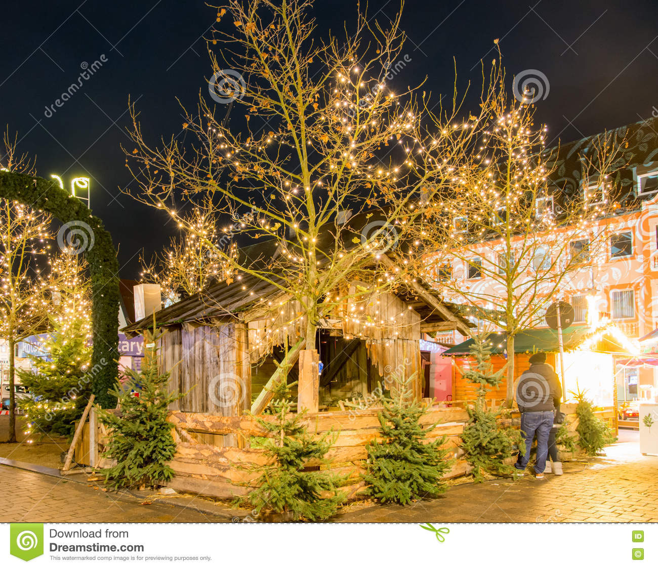 download traditional german christmas market editorial image image of dark bavaria 82672930