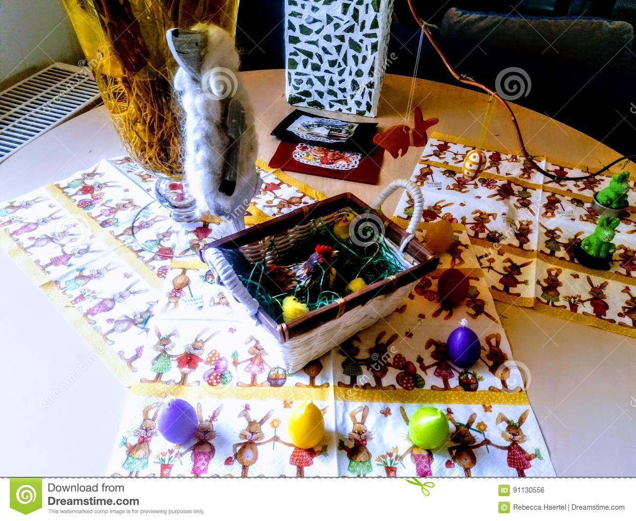 Traditional German Easter Decorations Stock Photo - Image of