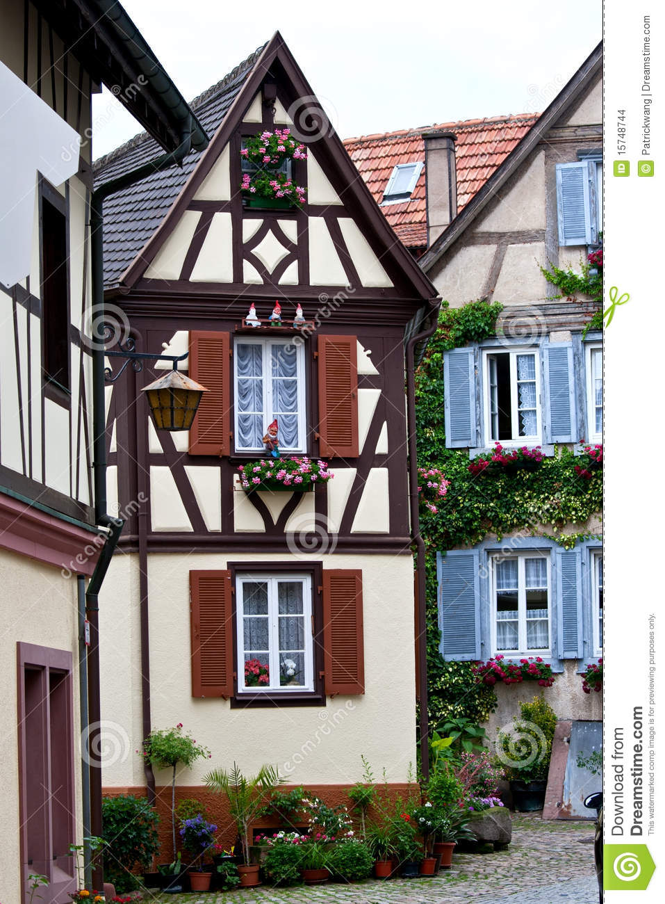 Traditional German House Stock Photo Image Of Fashion 15748744
