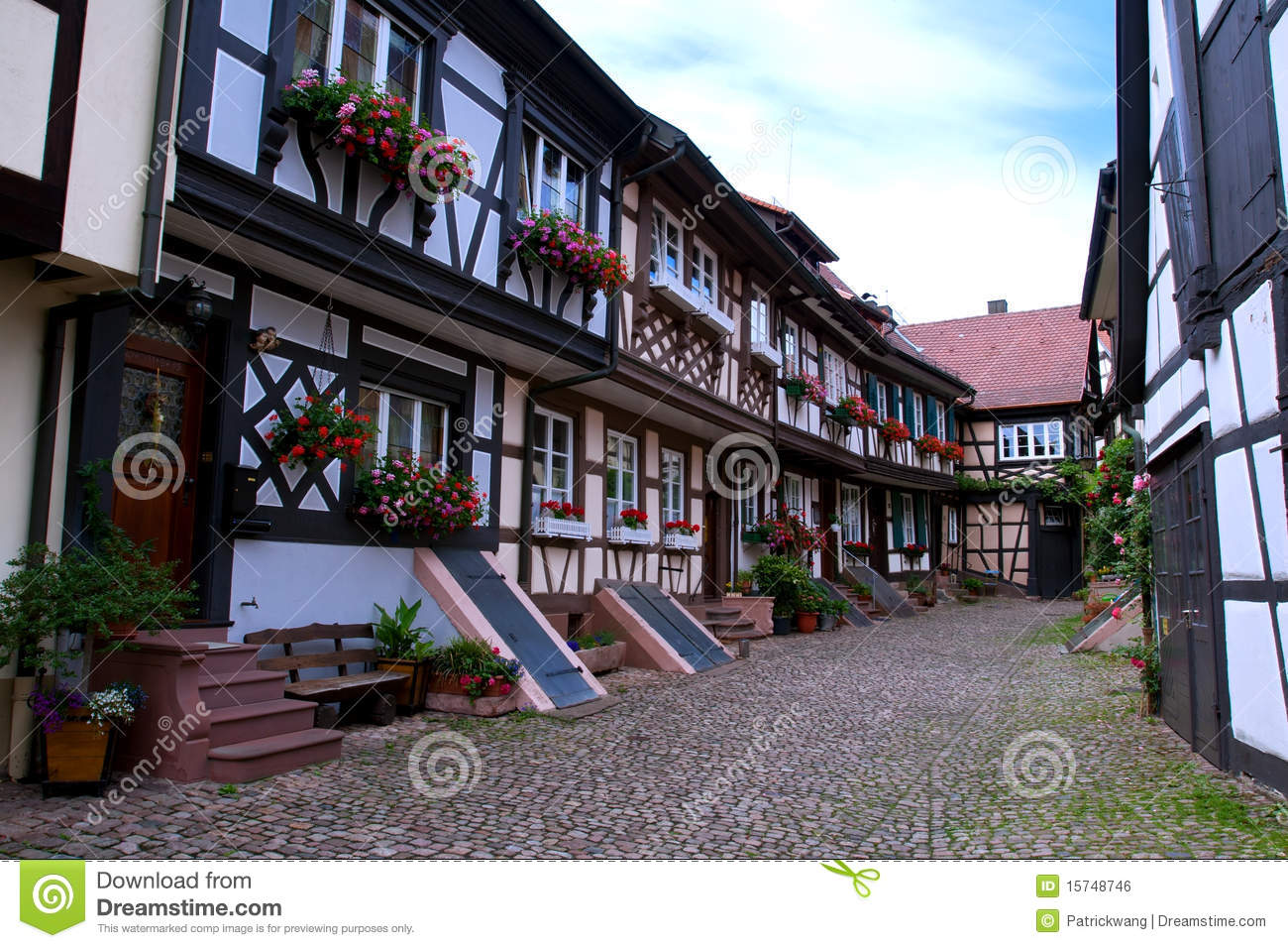Old brick wall as a frame 01 stock photo image 18377500 - Traditional German House Royalty Free Stock Image Image