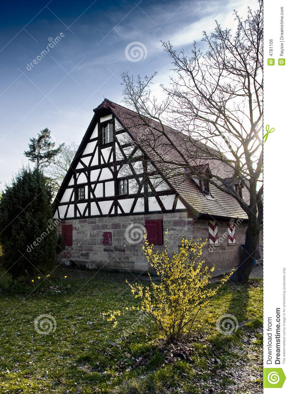 Traditional German House Stock Photo Image Of Sunny Historic