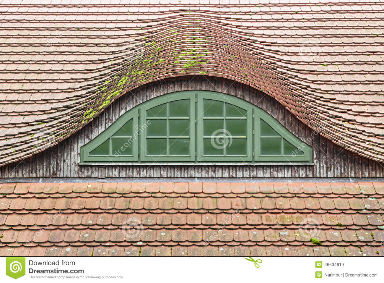 Traditional german roof window stock photo image 46604619 - Traditional houses attic ...
