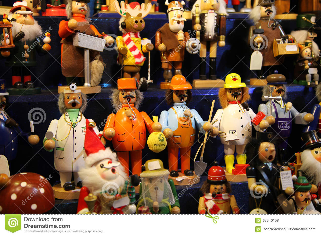Traditional German wooden toys at the Fair