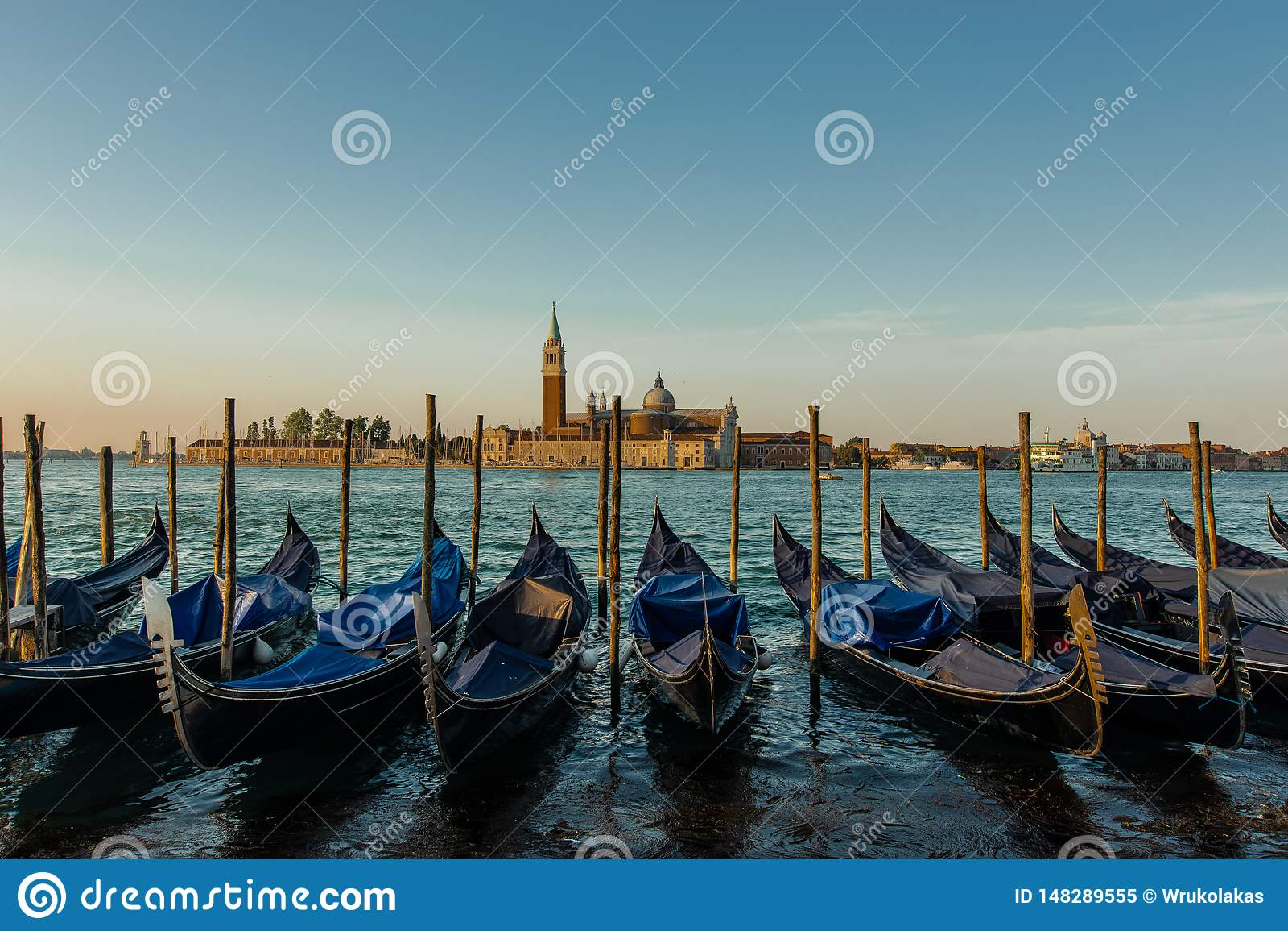 Traditional Gondolas at Venice