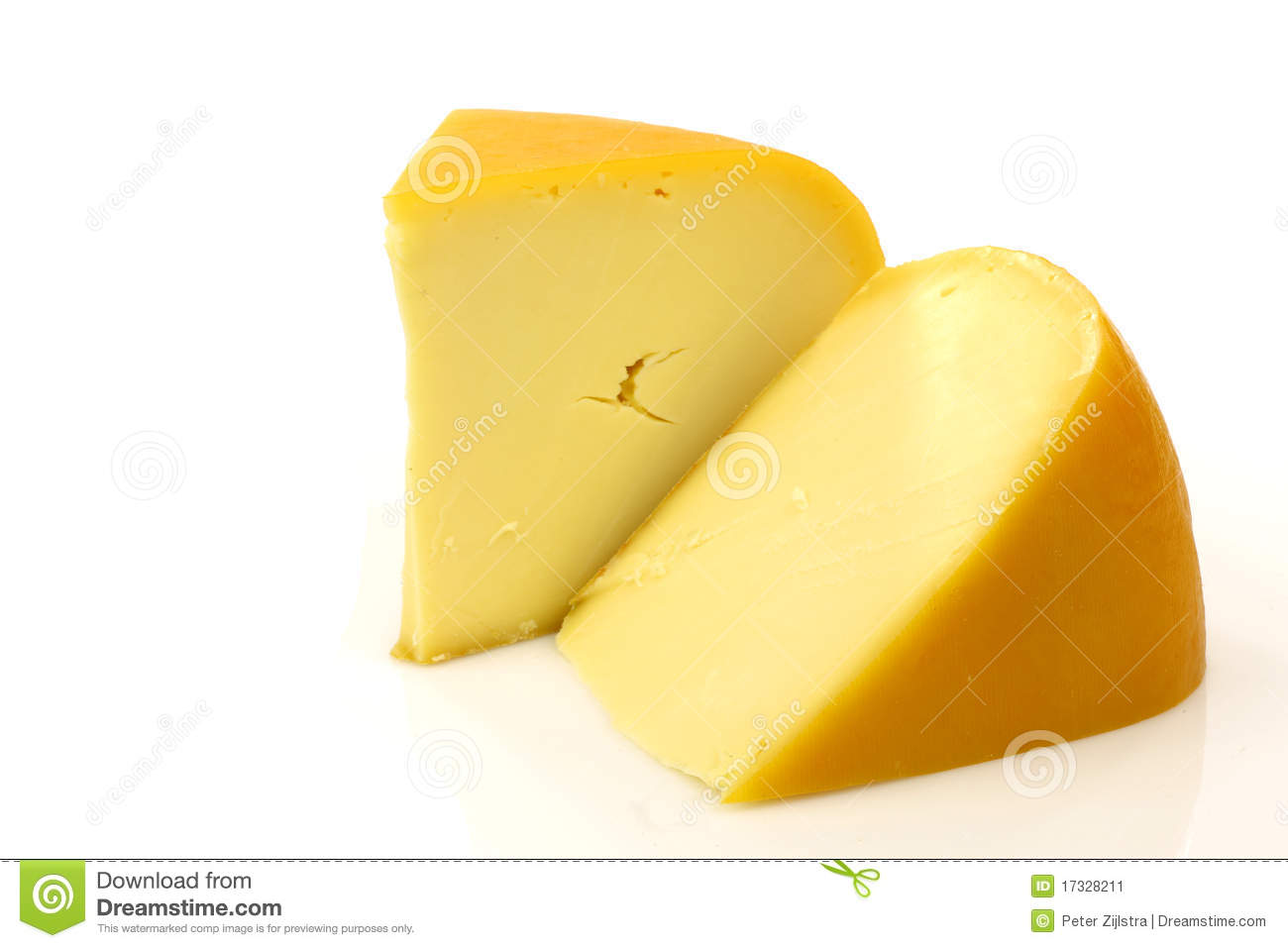 Traditional Gouda Cheese Pieces Stock Image - Image: 17328211