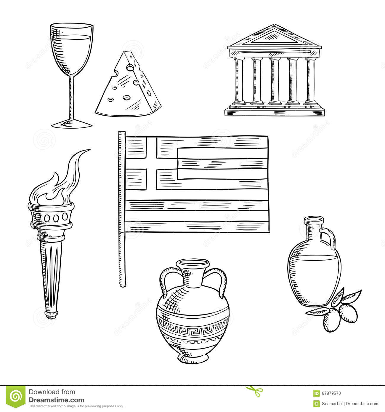 Culture symbols of ancient greece stock vector illustration traditional greece symbols and culture objects stock photo biocorpaavc