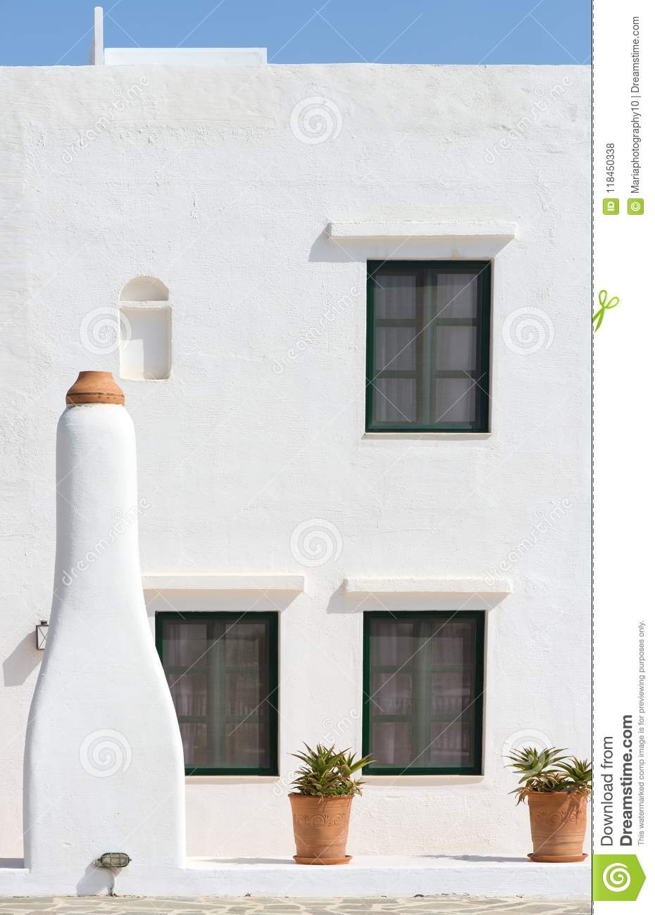 Traditional Greek house detail