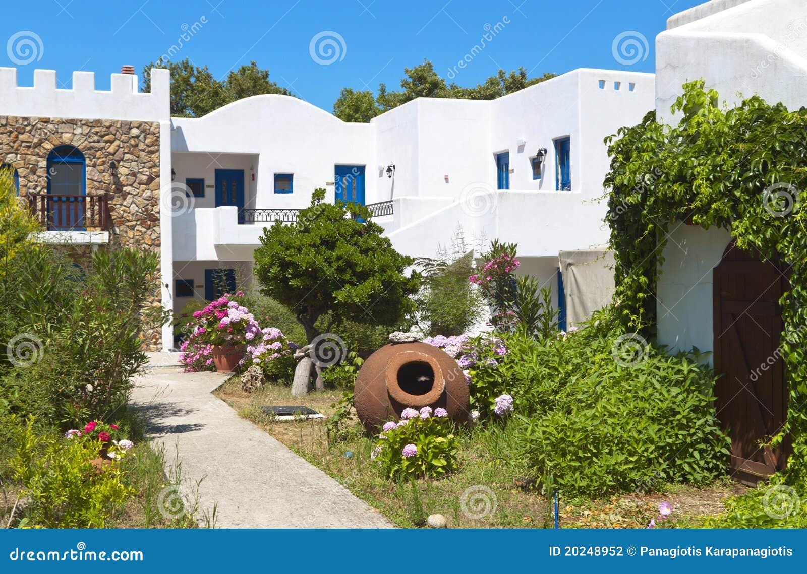 Traditional greek house at Samothraki island