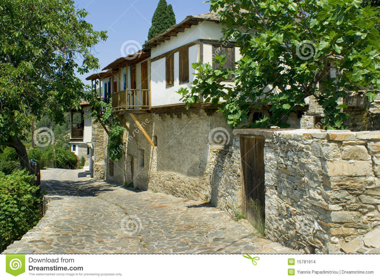 Traditional Greek Houses traditional greek house on thassos island stock images - image