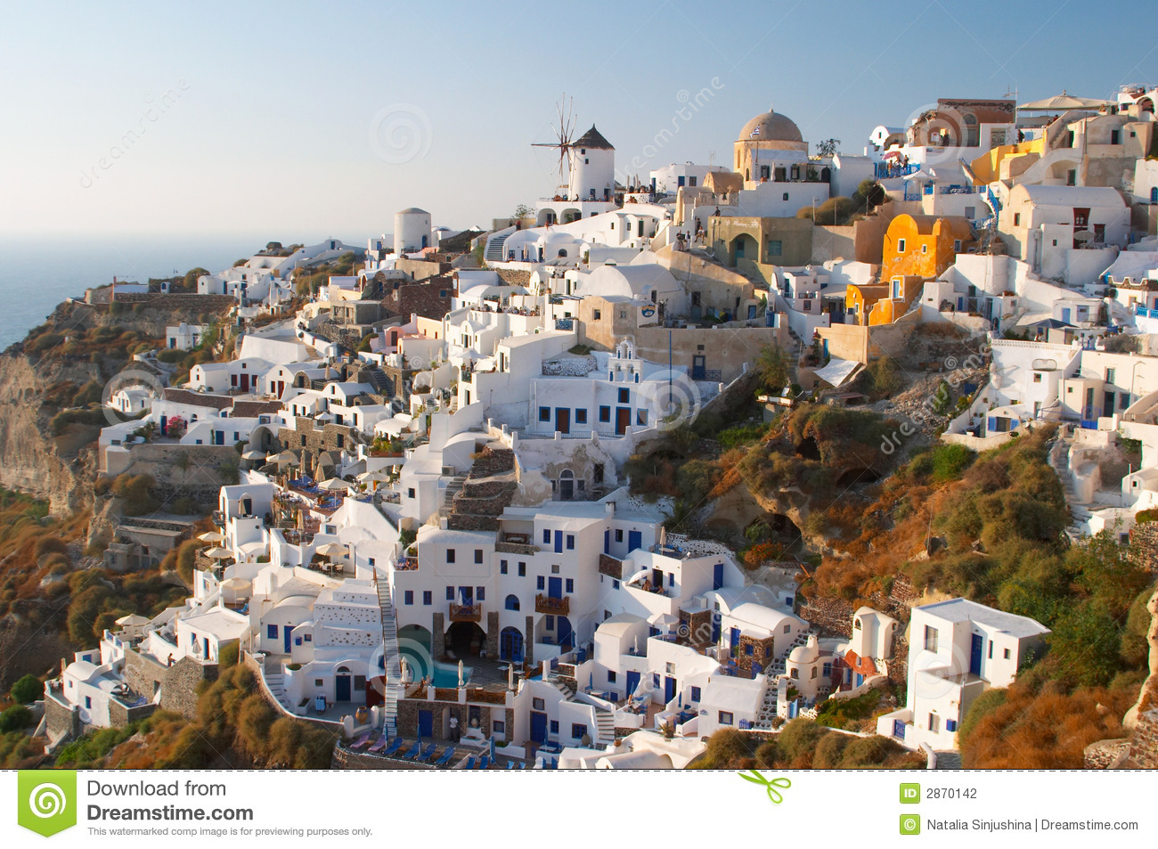 Traditional Greek Village Oia Stock Photography - Image: 2870142