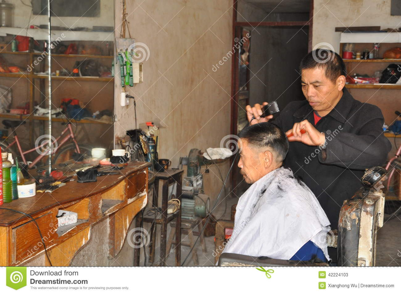 Traditional Haircut In China Editorial Stock Photo Image Of