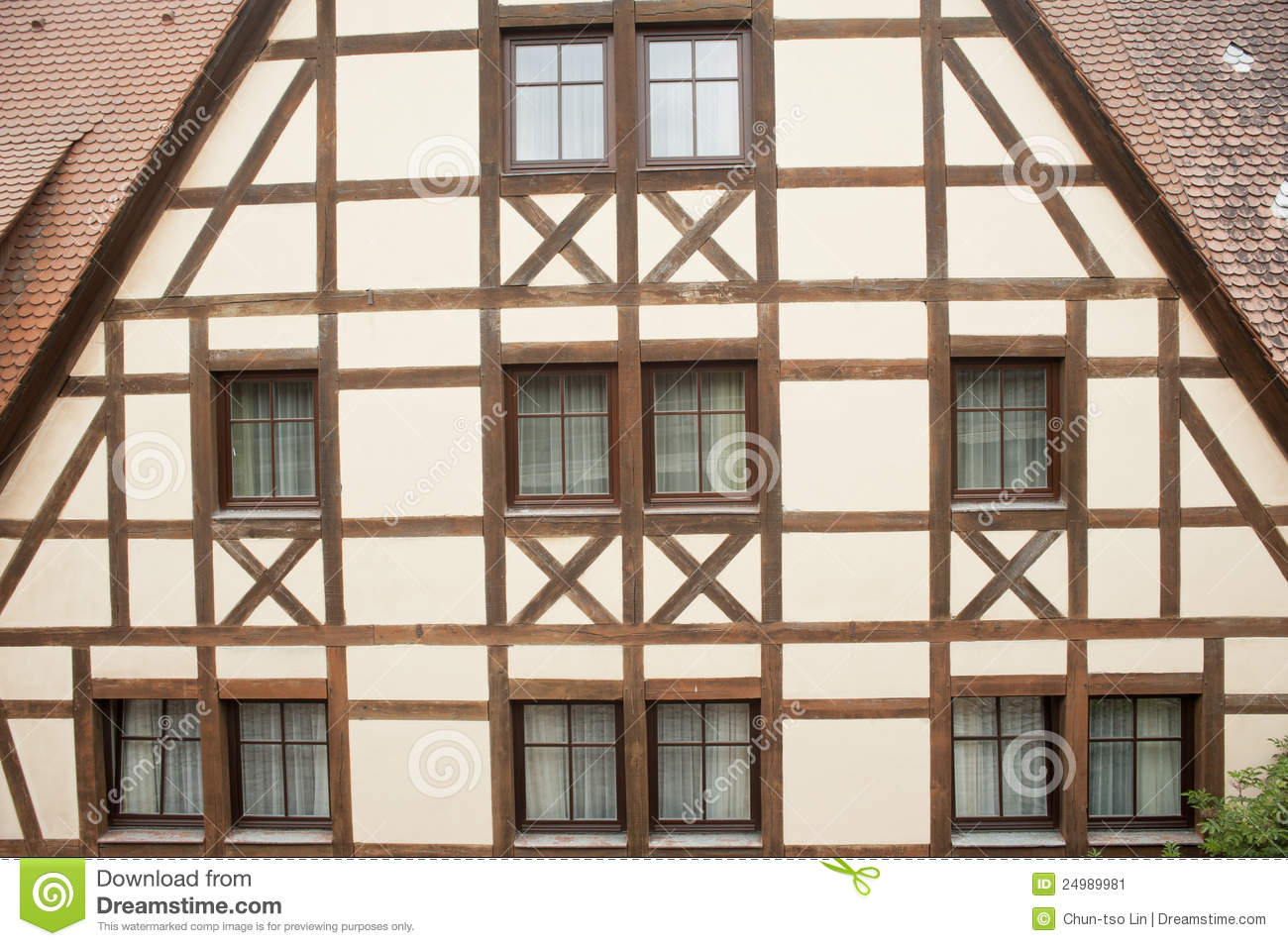 Traditional Half Timber House In Germany Stock Image