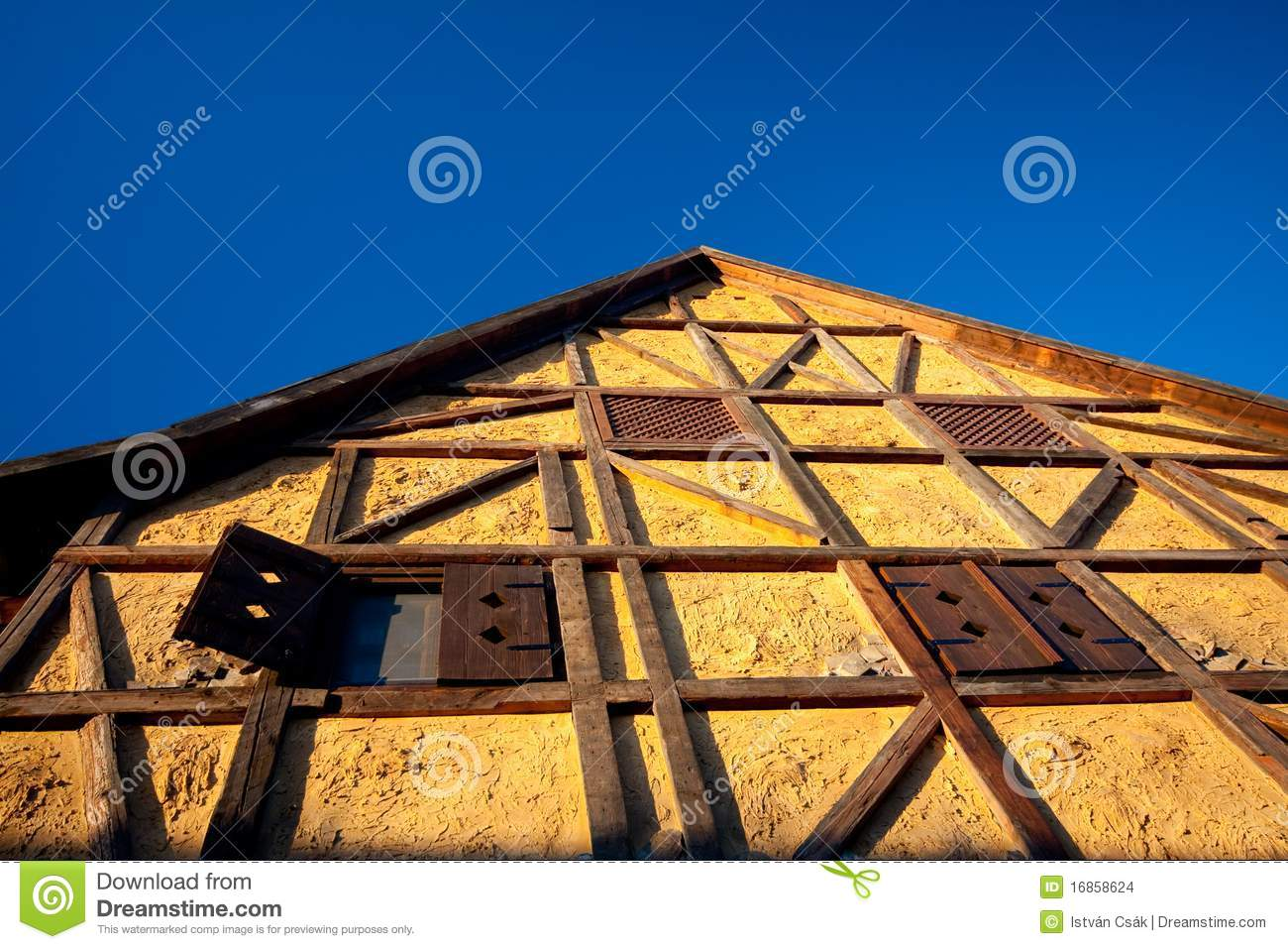 Traditional half timbered house stock images image 16858624 for Half timbered house plans