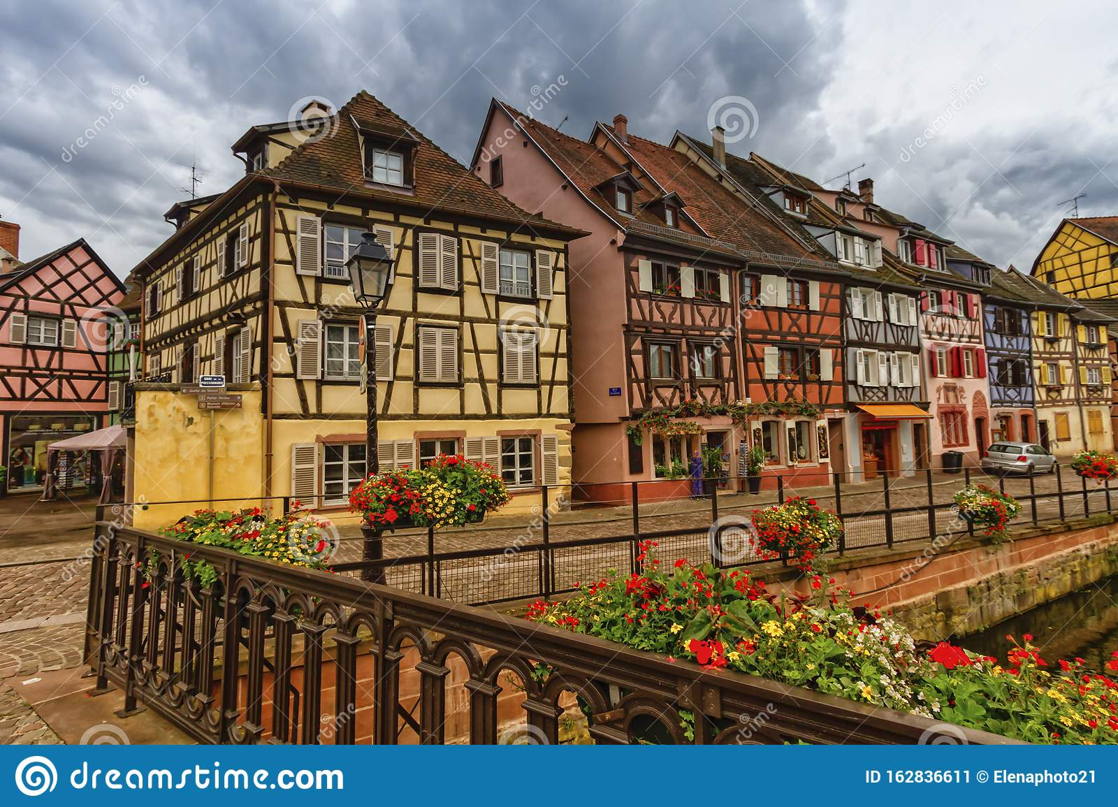 Traditional half-timbered houses in Colmar, Alsace, France