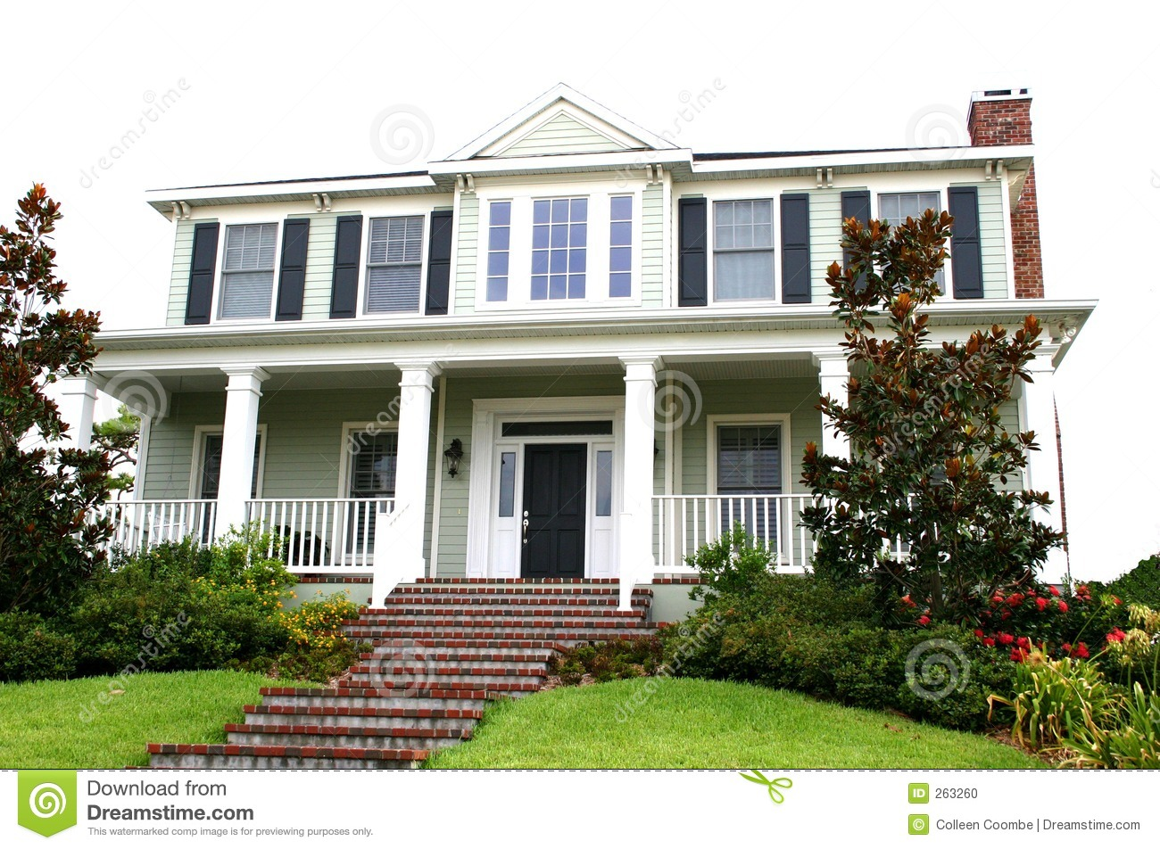 Traditional home american style stock photo image 263260 for Conventional house style
