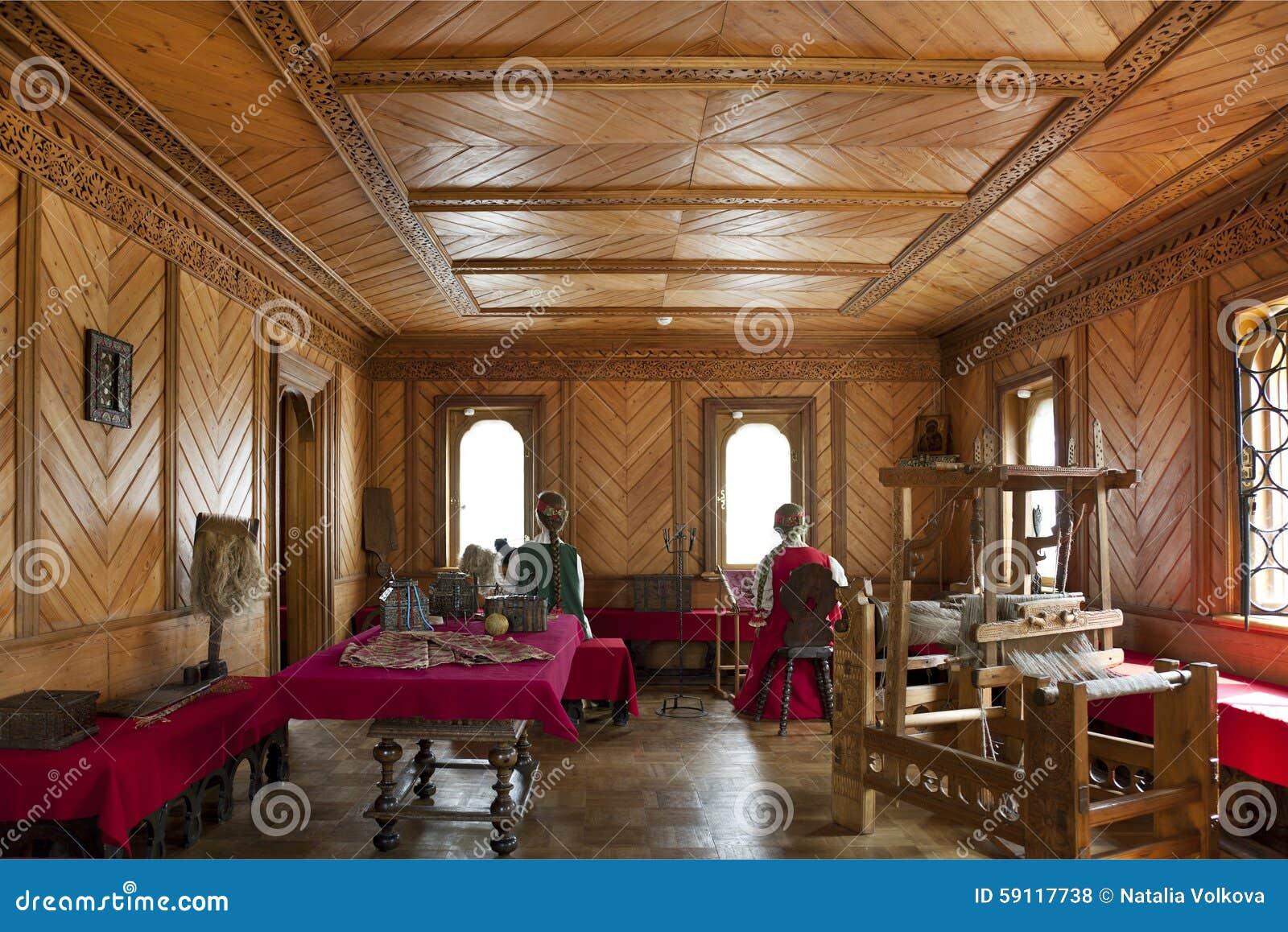 traditional home interior russian aristocracy editorial stock