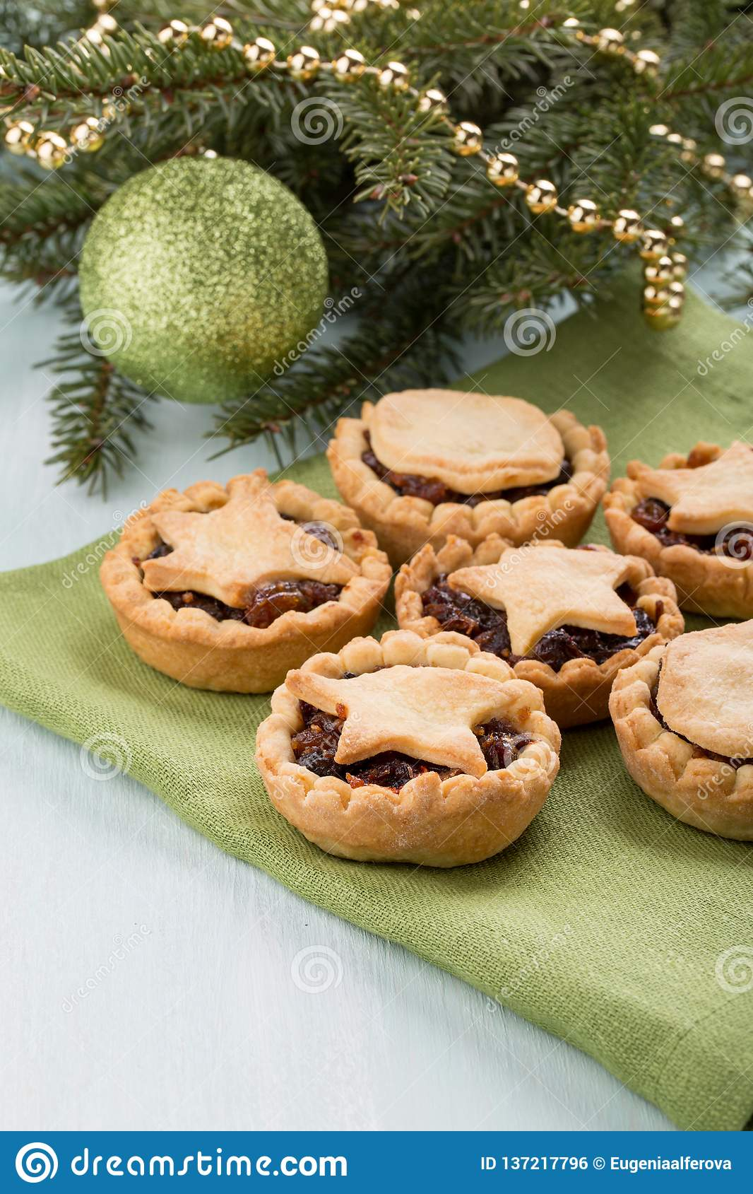 Traditional homemade fruit mince pies
