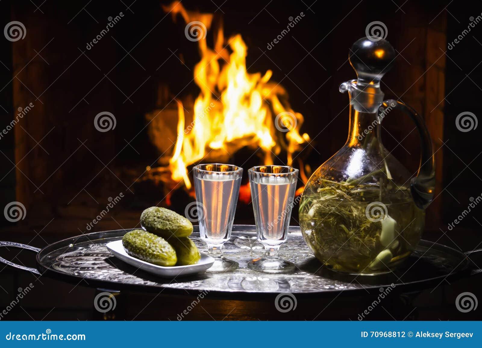 traditional homemade russian vodka stock photo image 70968812