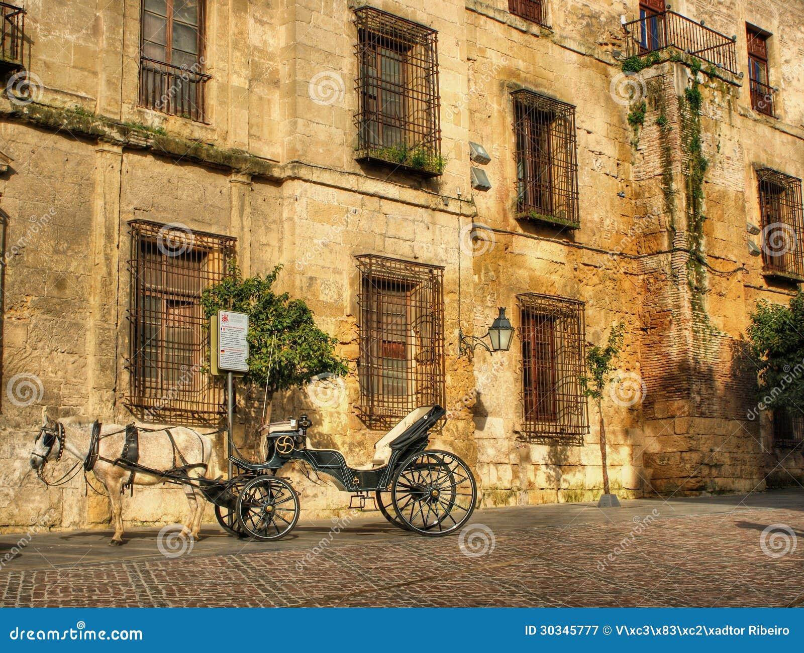 Traditional horse and cart at Cordoba