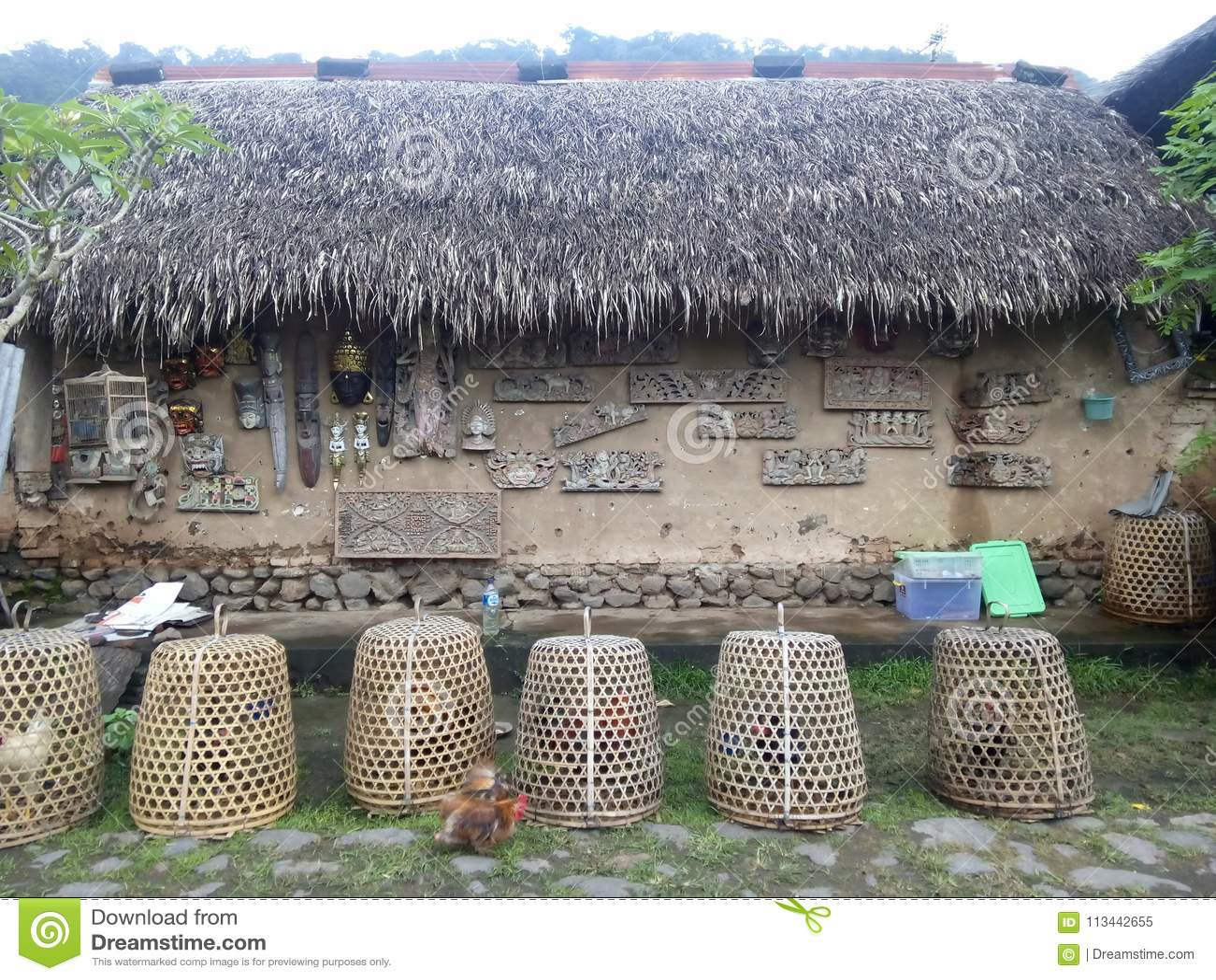 Bali Aga Village Stock Image Image Of Traditional Village 113442655