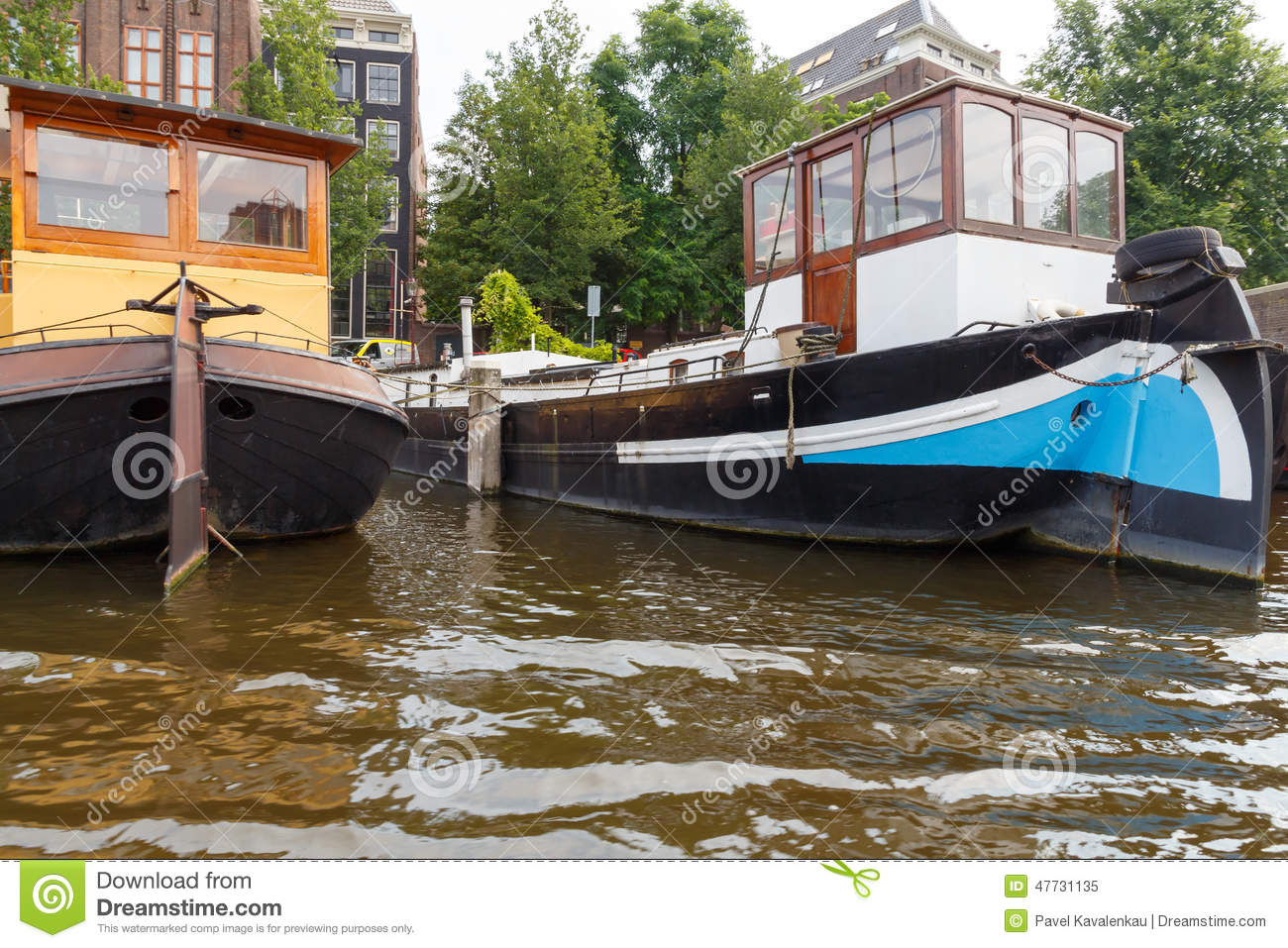 Traditional house boat on the canals of amsterdam editorial image image 47731135 - Household water treatment a traditional approach ...
