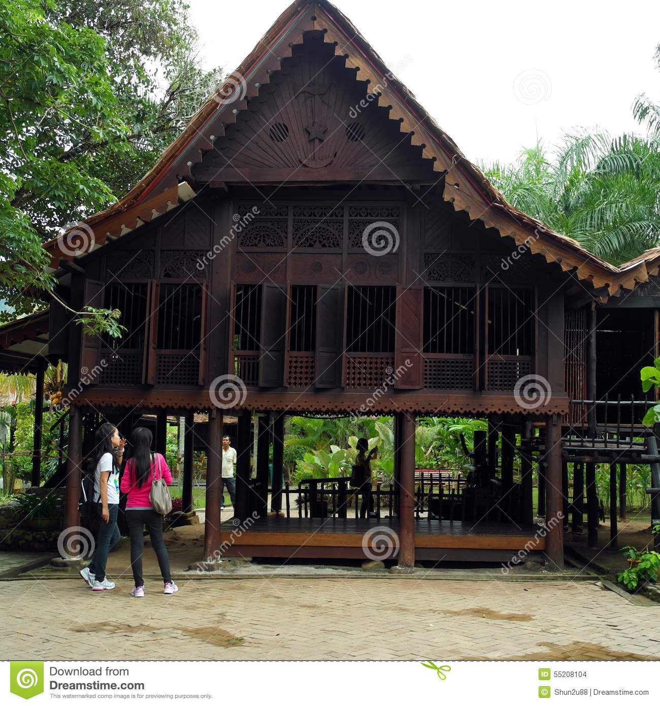 Traditional Wooden House Editorial Stock Image Image Of