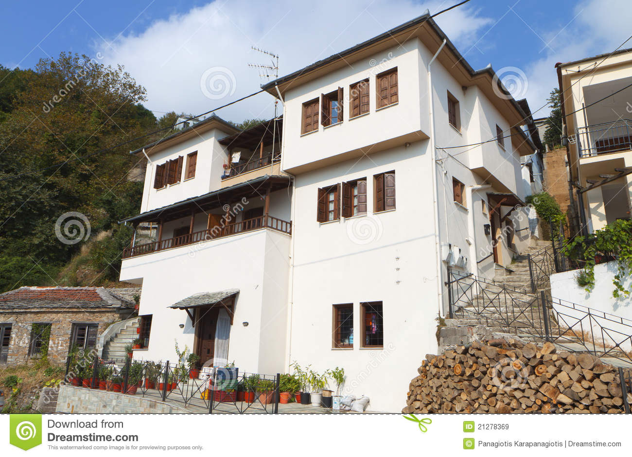 Traditional Greek House traditional house in greece royalty free stock images - image
