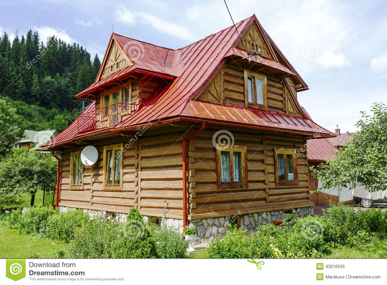 Traditional house made of wooden logs in zakopane editorial image image of design editorial - Traditional polish houses wood mastership ...