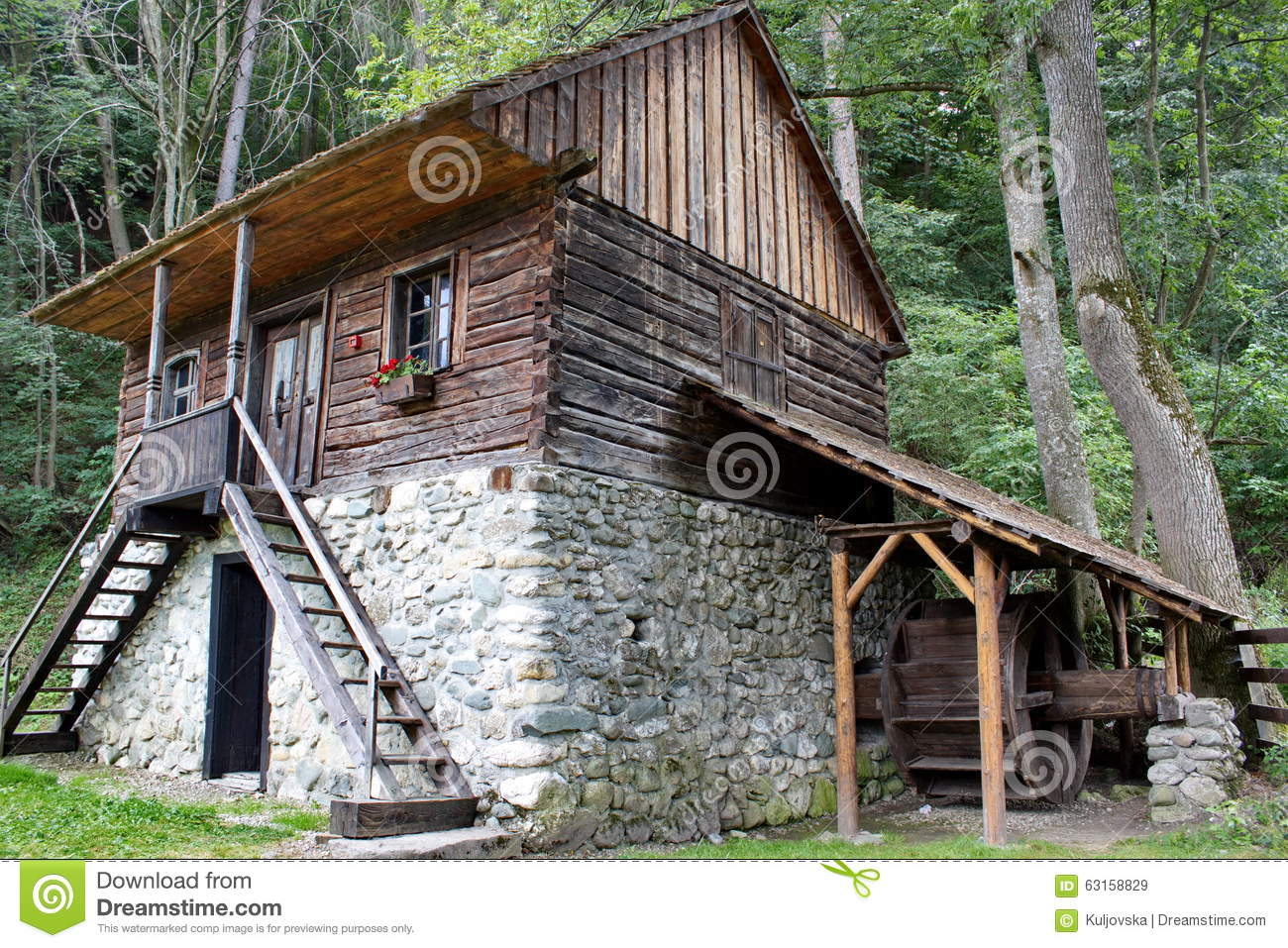 Traditional house with mill, Bran, Romania