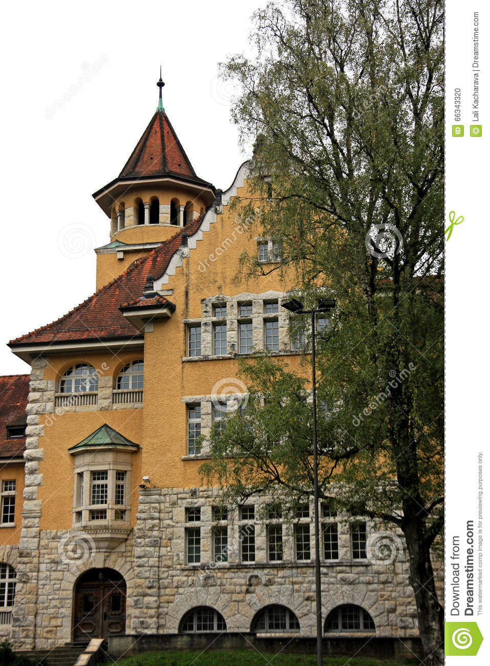 Traditional House In Switzerland Stock Photo Image 66343320