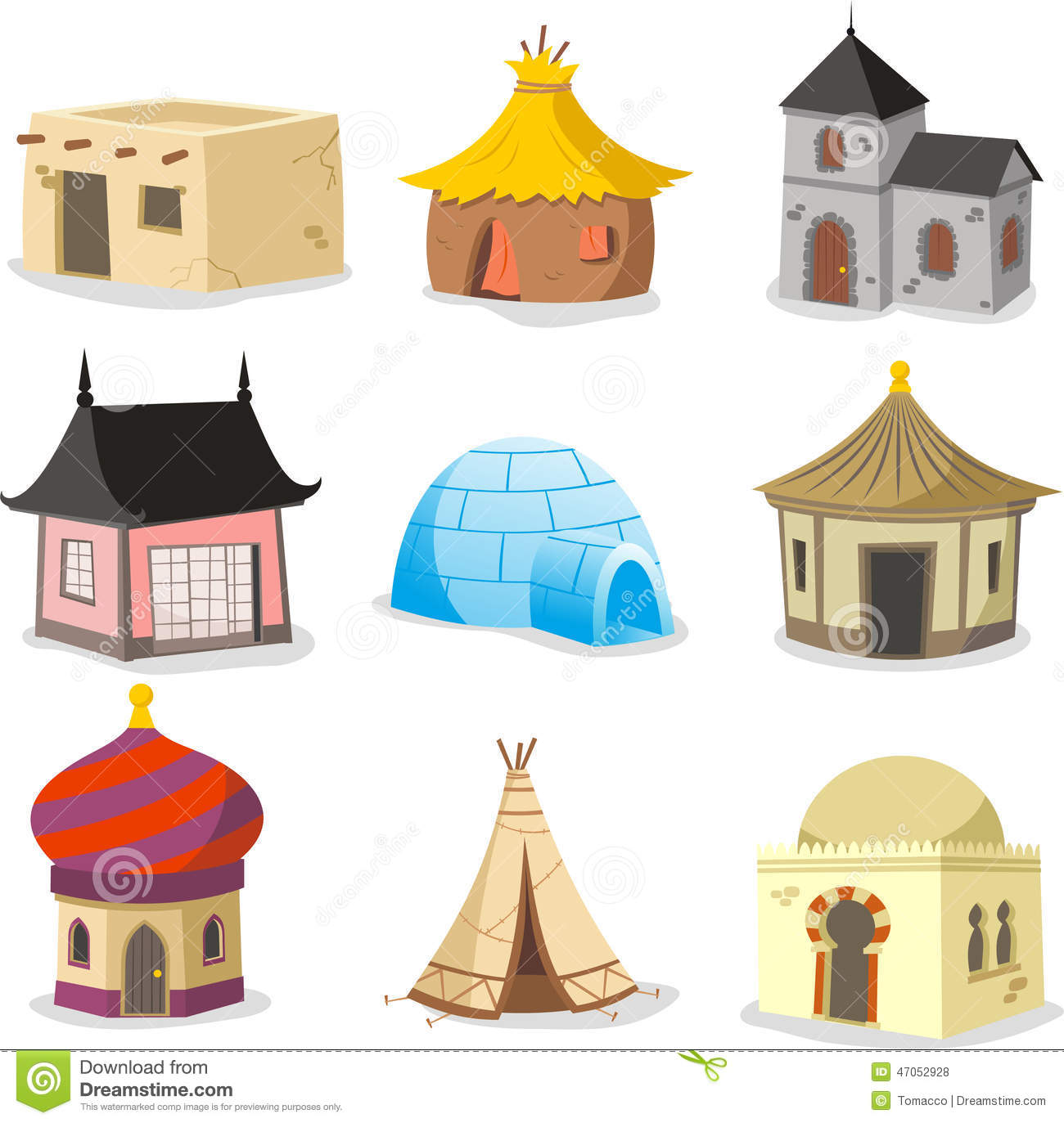 Traditional houses house igloo hut shack slum cabinet for Names of different style homes