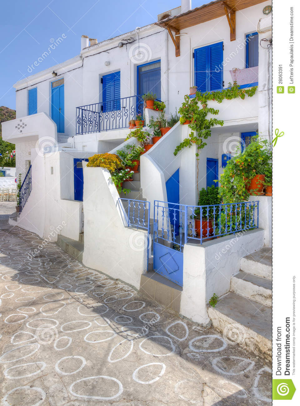 Traditional Houses In Kimolos Island Greece Stock Image