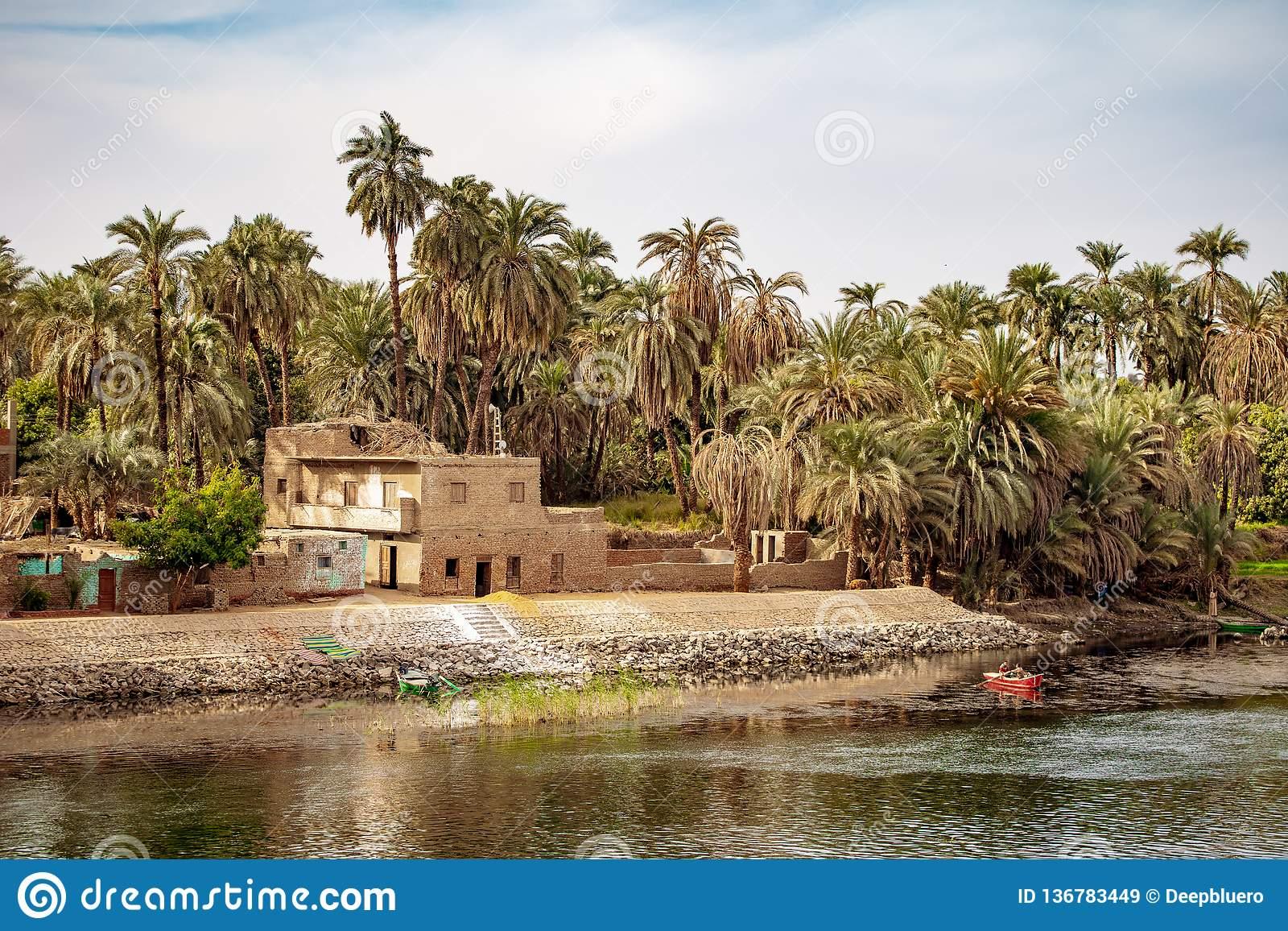 Traditional Housing On The Banks Of Nile River In Luxor