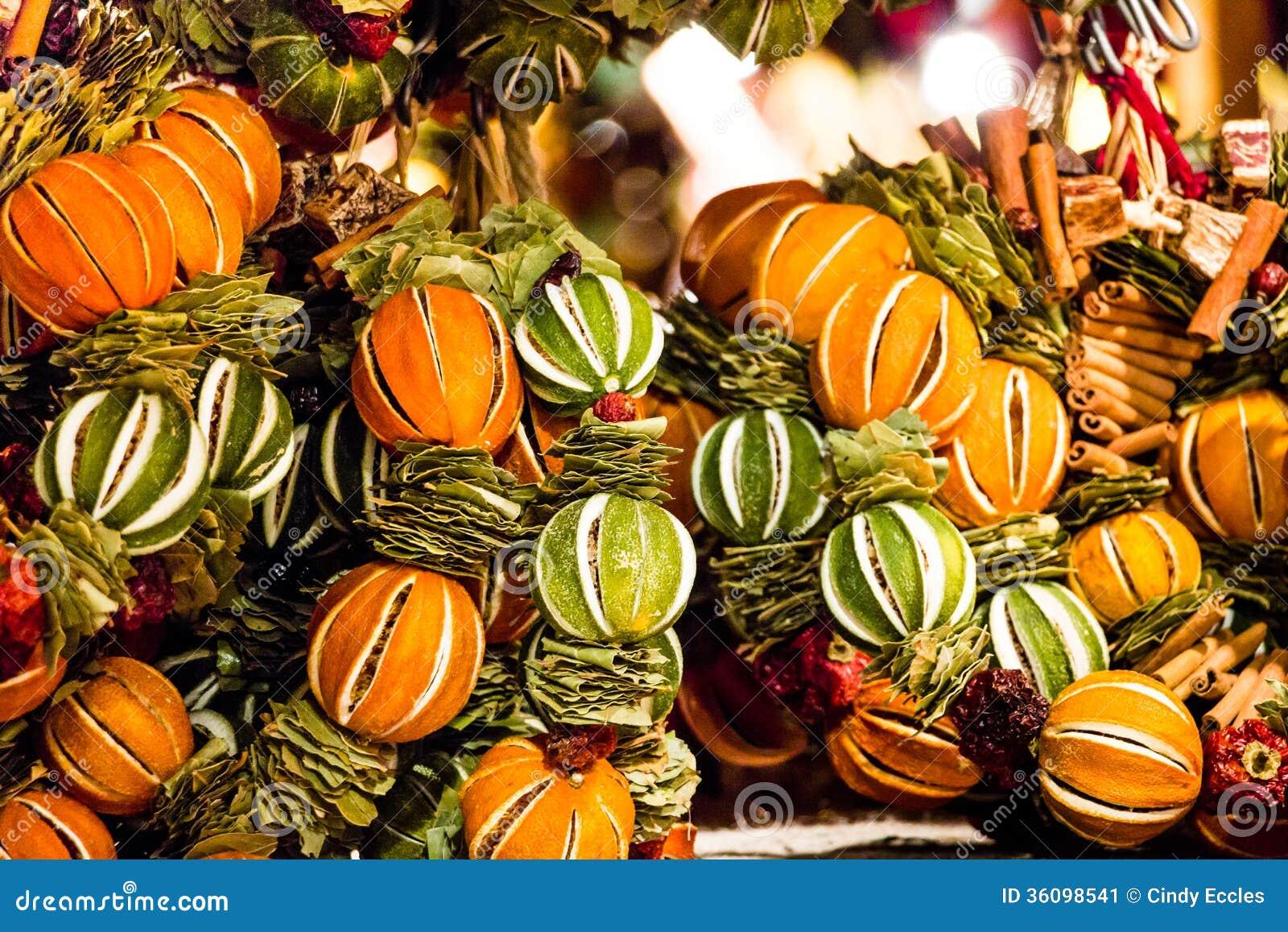 Christmas Tree Orange Decorations