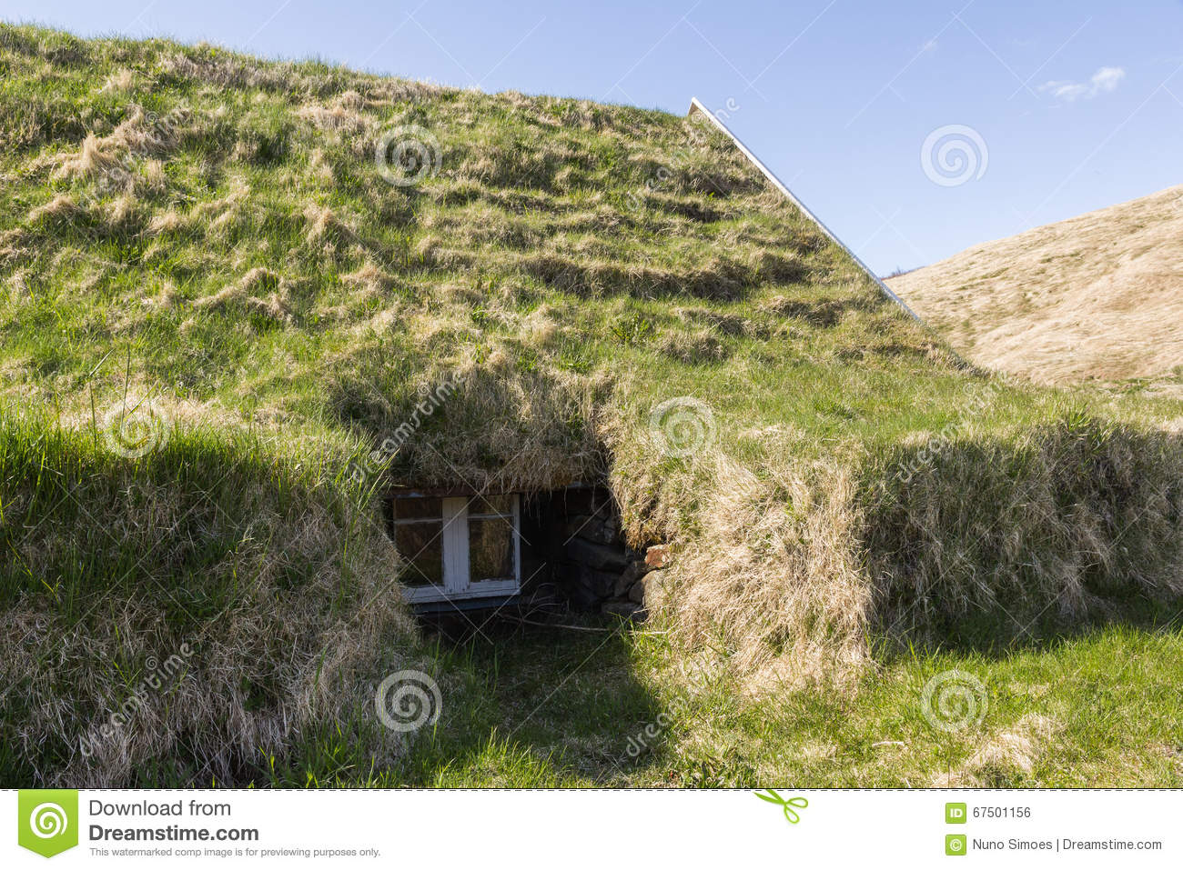 Traditional Icelandic Houses Ground Lateral Window Detail