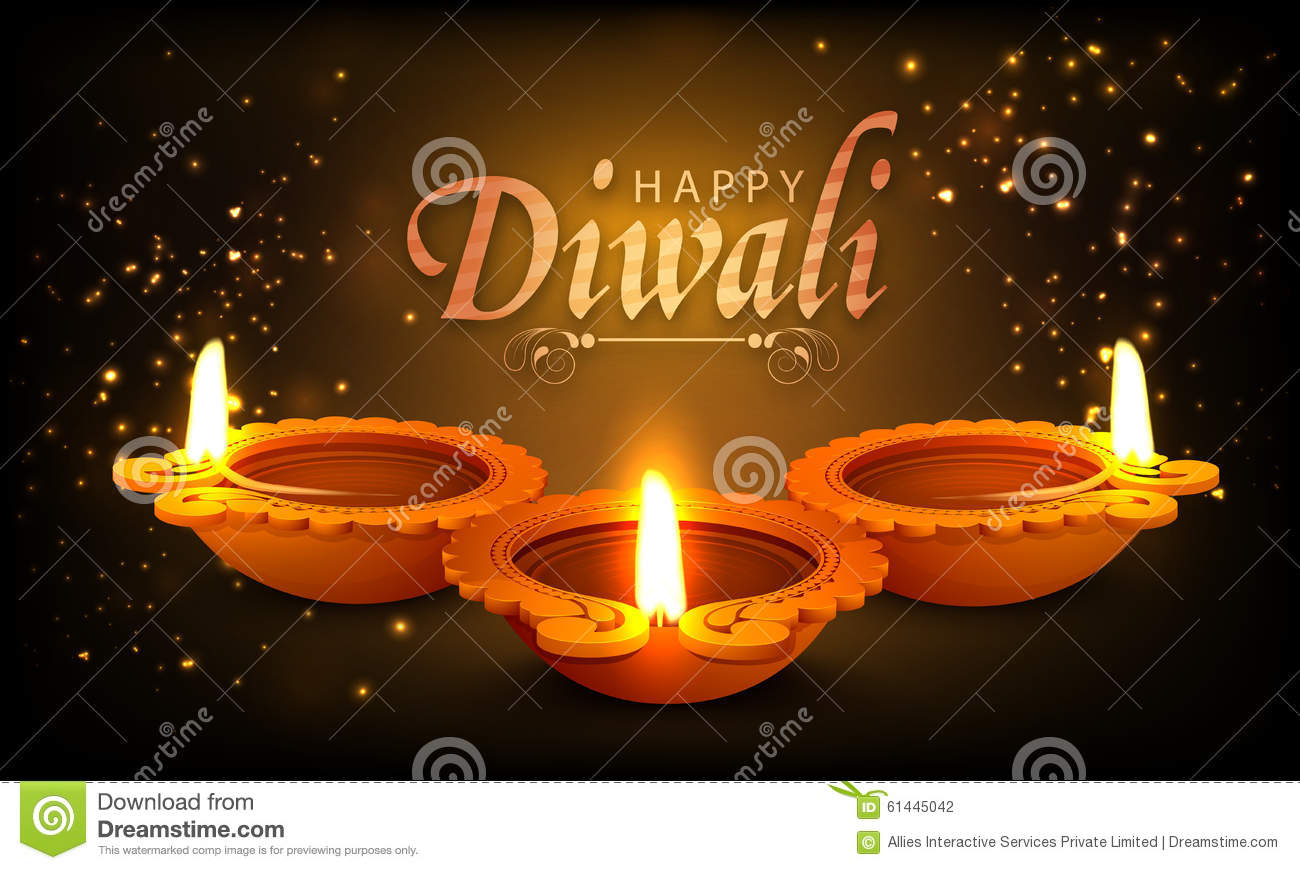 Happy Diwali Indian Woman In Traditional Outfit Stock Photo Cartoondealer Com