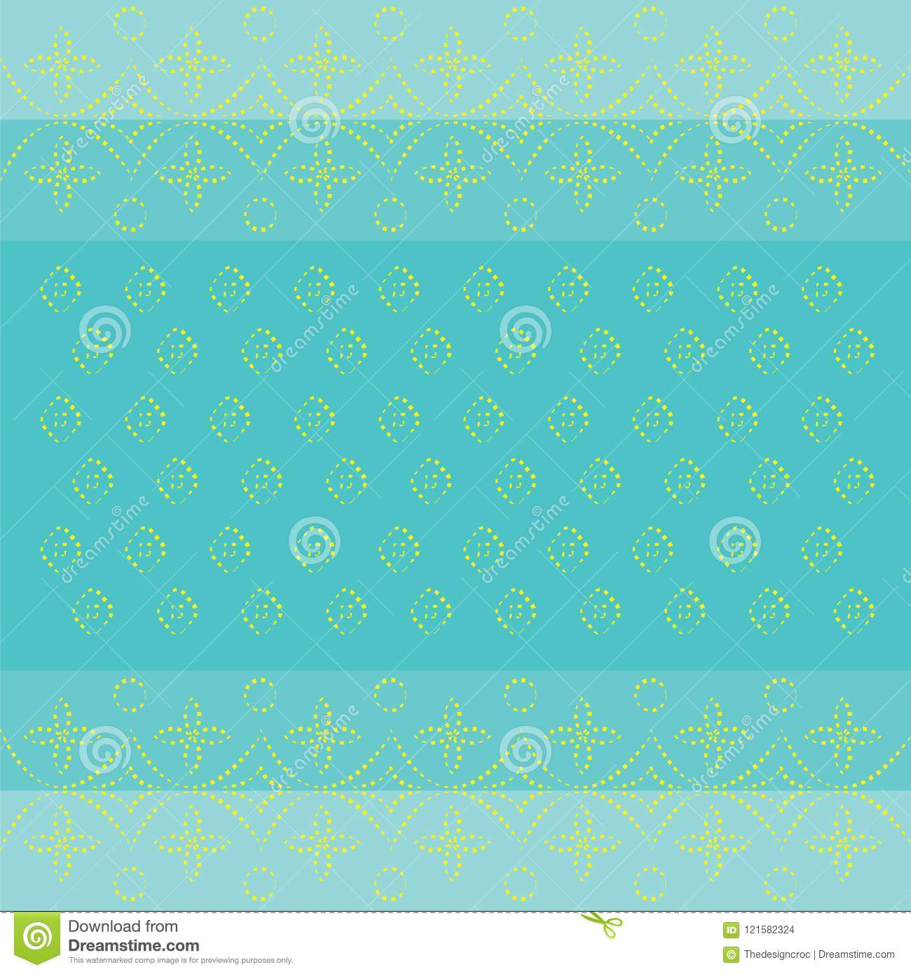 Indian Bandhani Traditional Pattern Wallpaper Card Design Blue And Yellow Dotted