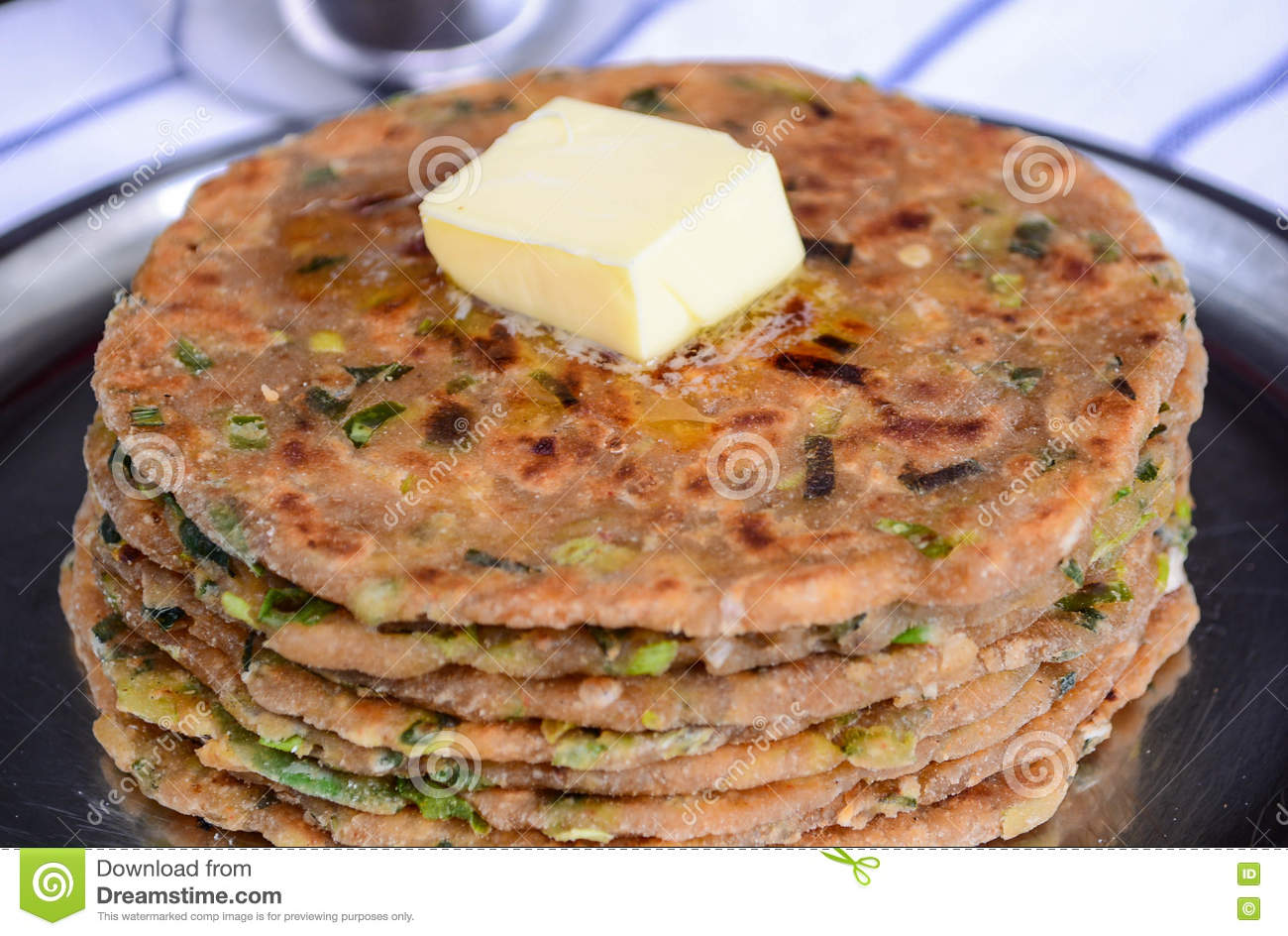 Traditional Indian Breakfast Paratha