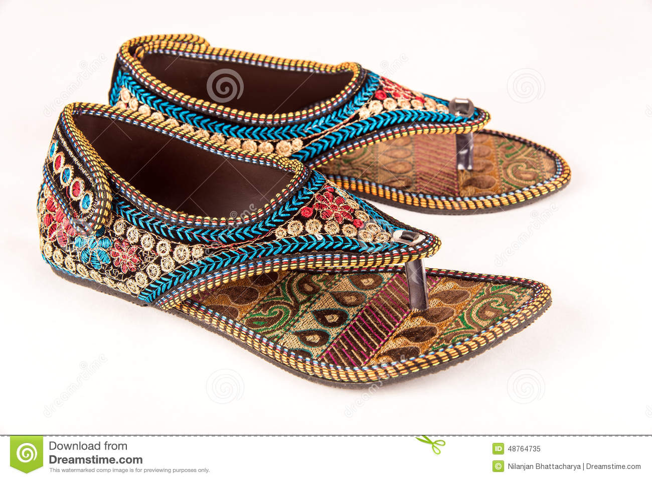 14f1ffc1ce0 Traditional Indian Ethnic Sandals Stock Image - Image of asian ...