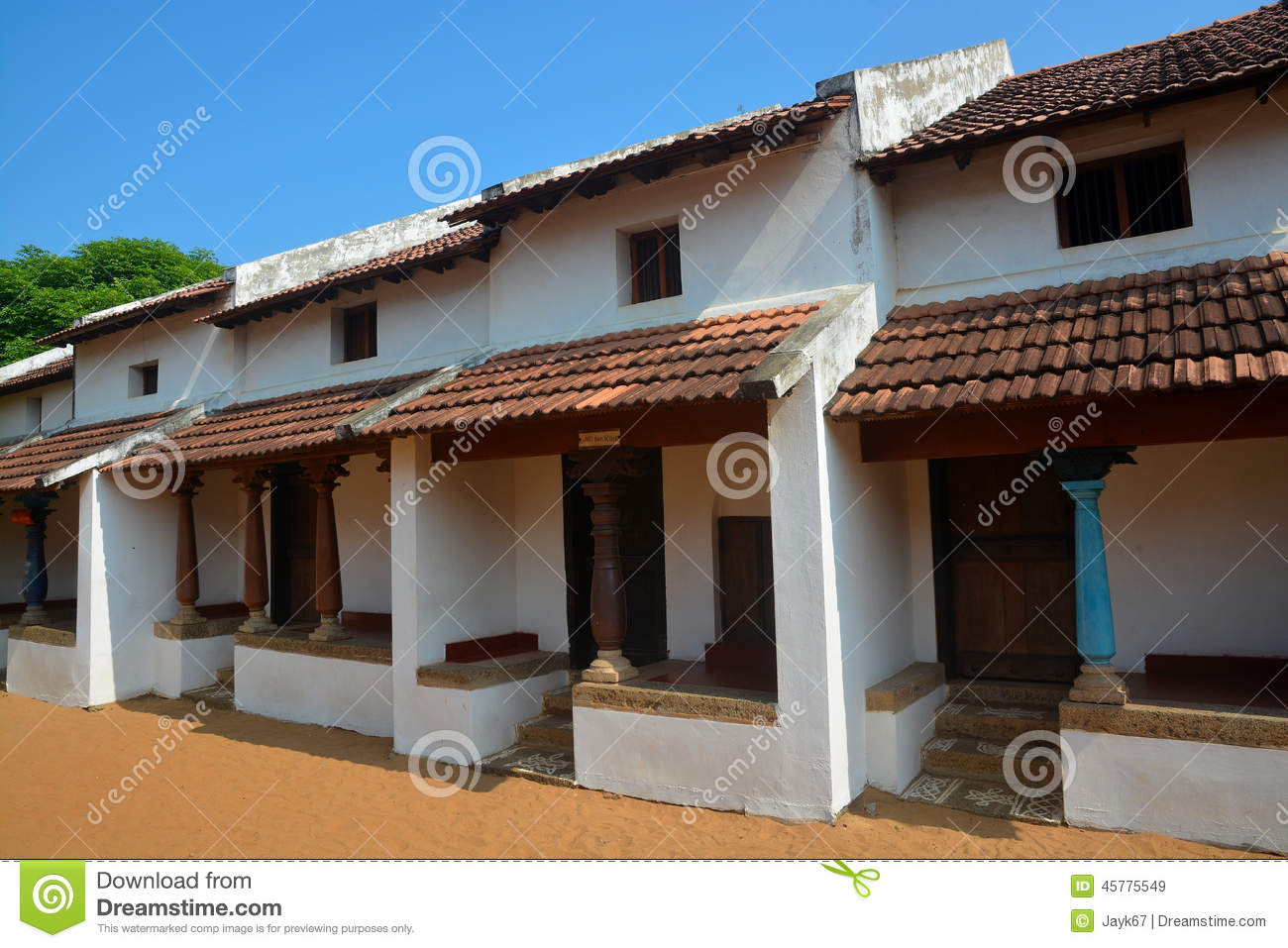 Traditional indian house stock image image of roof for Indian house image