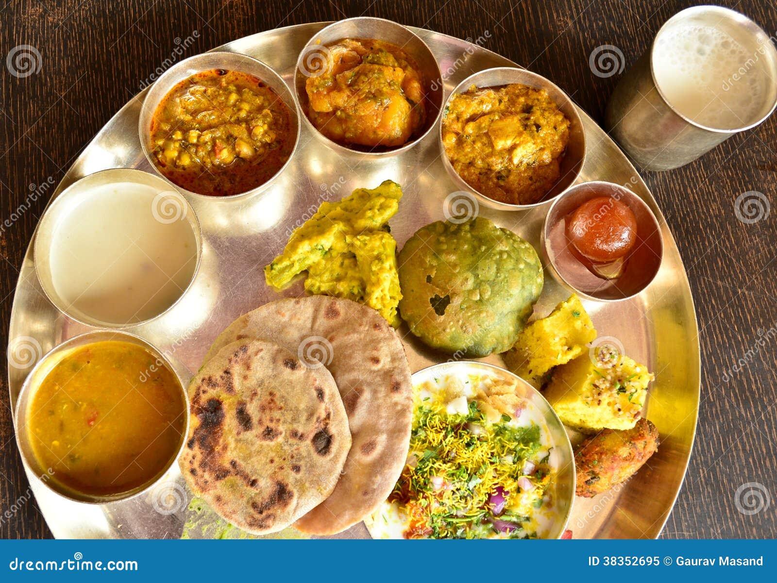 Traditional Indian vegeterian platter