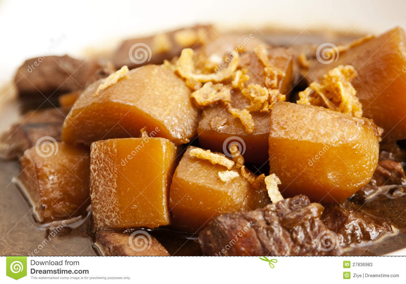 Traditional indonesian food semur ayam stock image for Authentic indonesian cuisine