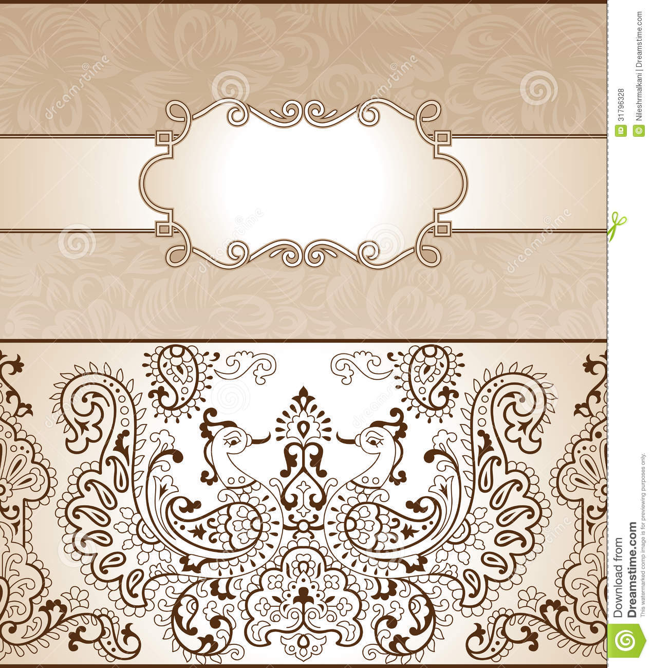 Traditional invitation card stock vector illustration of banner traditional invitation card stopboris Gallery