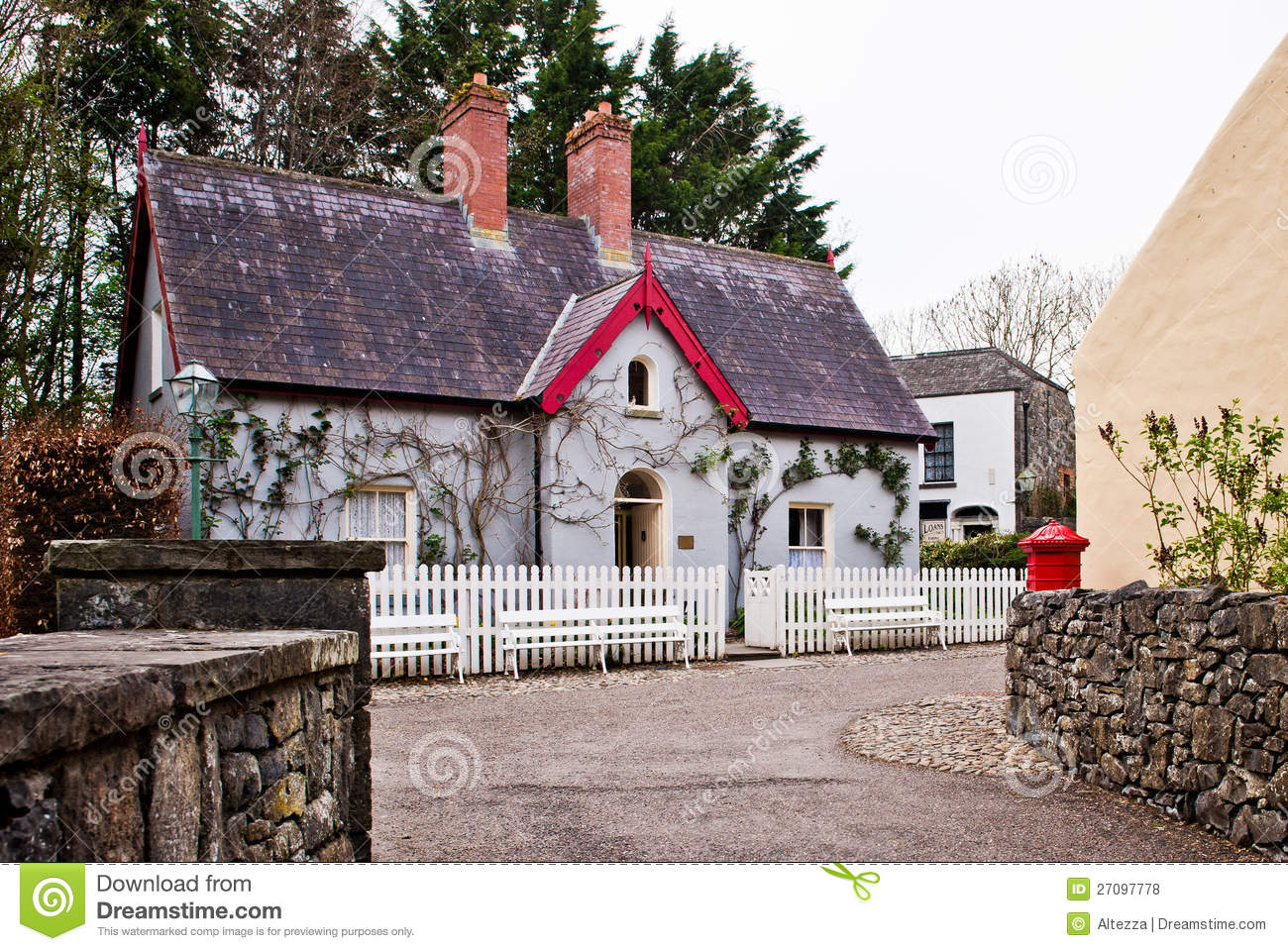 Traditional irish cottage stock photo image of building for Traditional irish cottage designs