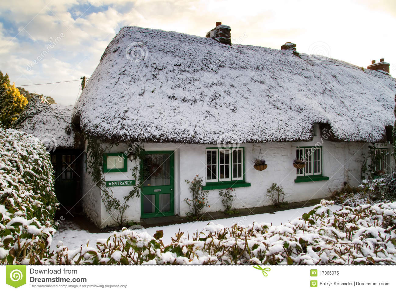 Traditional irish cottage house stock image image of for Traditional irish cottage designs
