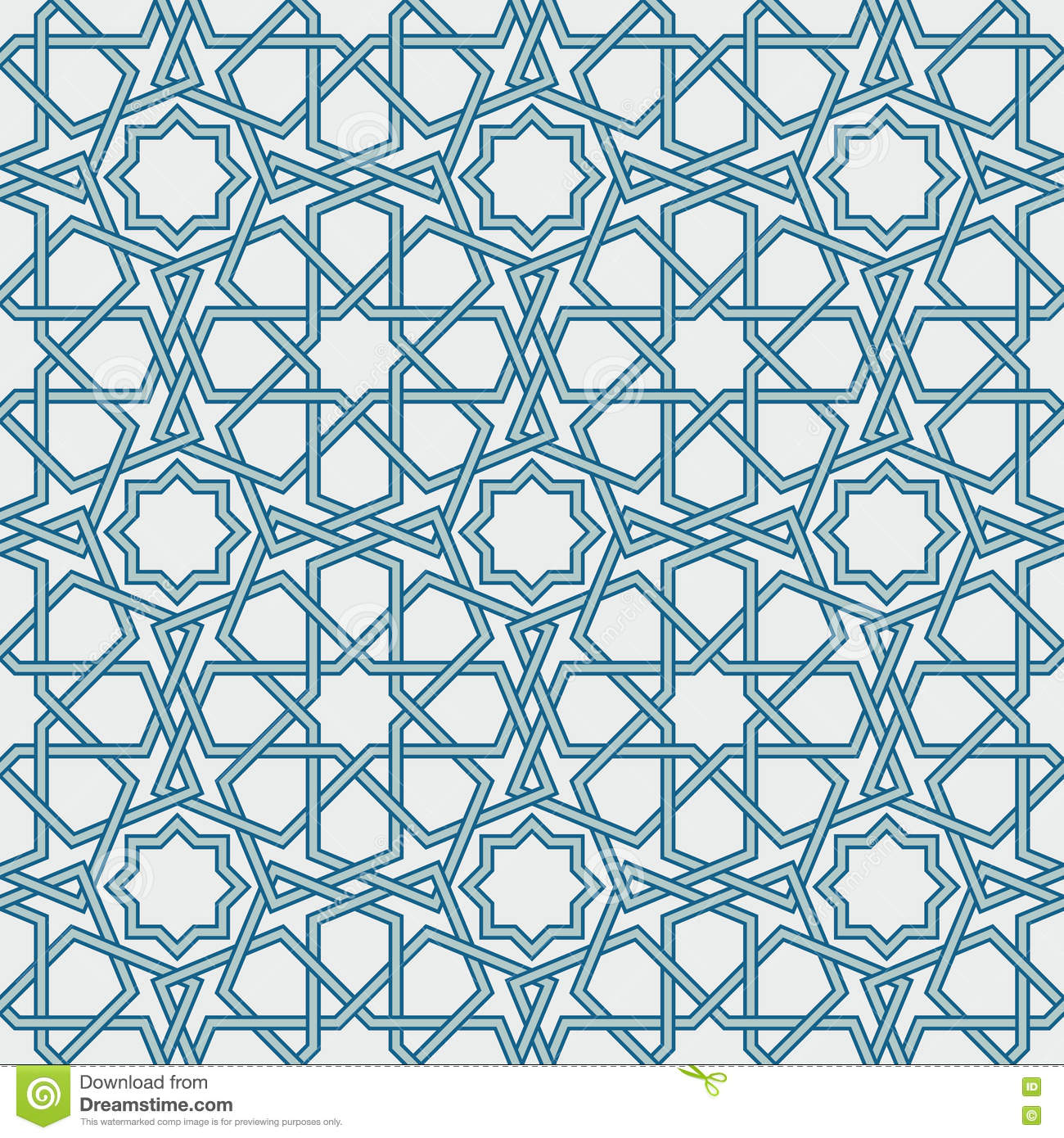 Traditional Islam Geometric Pattern, Seamless Stock Vector ... for Modern Arabic Pattern Vector  174mzq